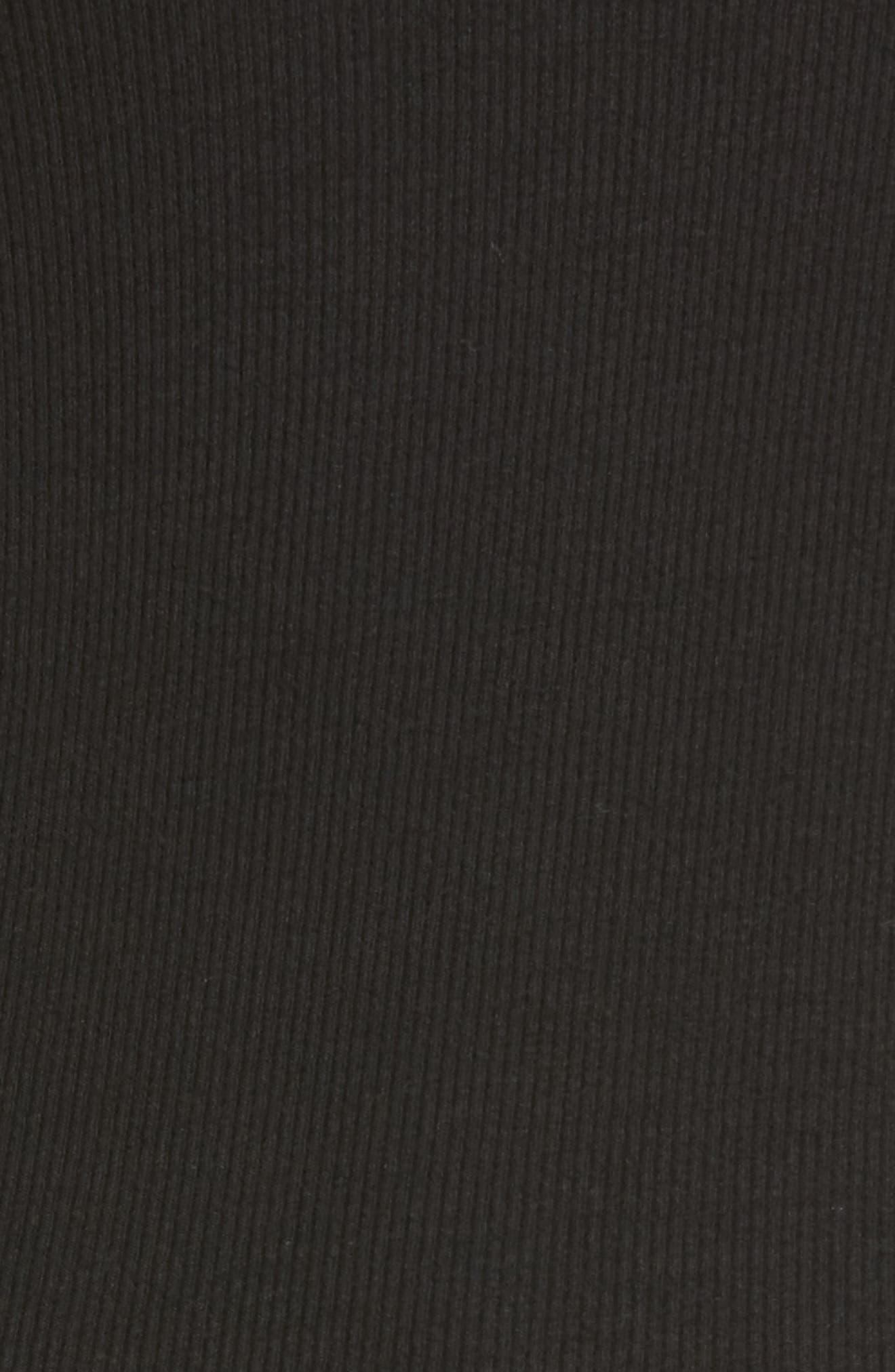 Milo Off the Shoulder Dress,                             Alternate thumbnail 5, color,                             Black