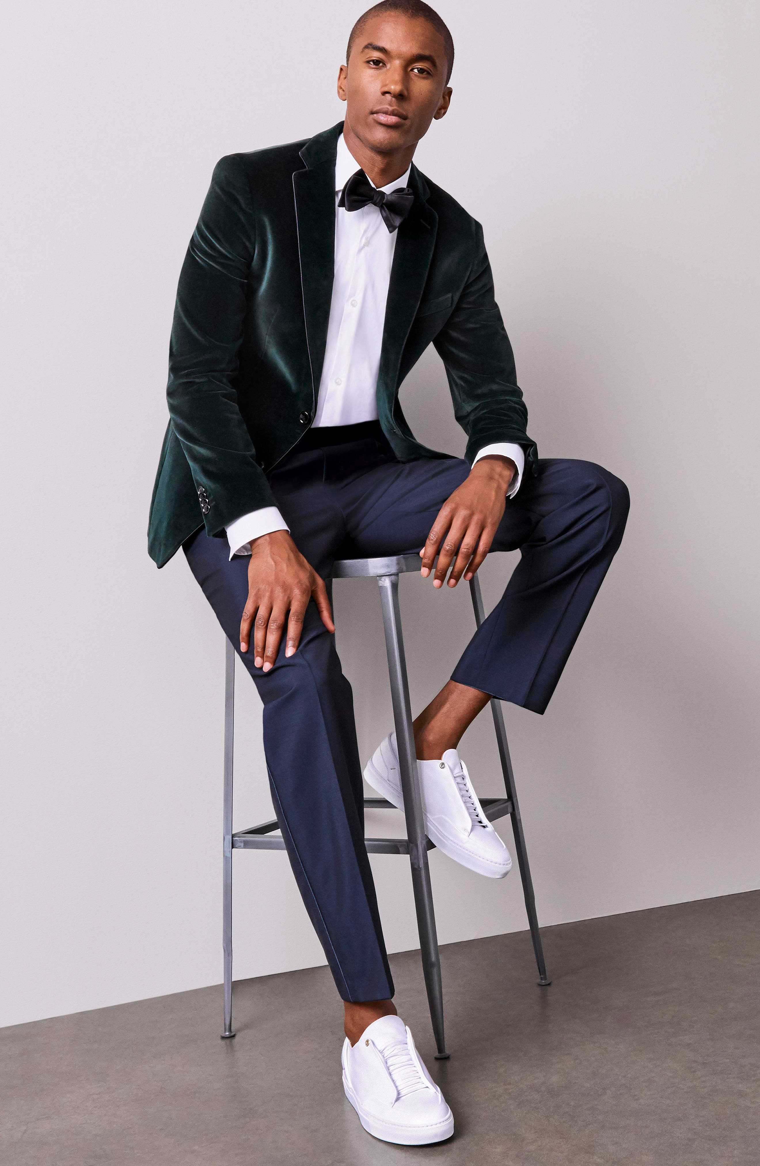 Alternate Image 3  - BOSS 'Jason' Slim Fit Solid Stretch Dress Shirt