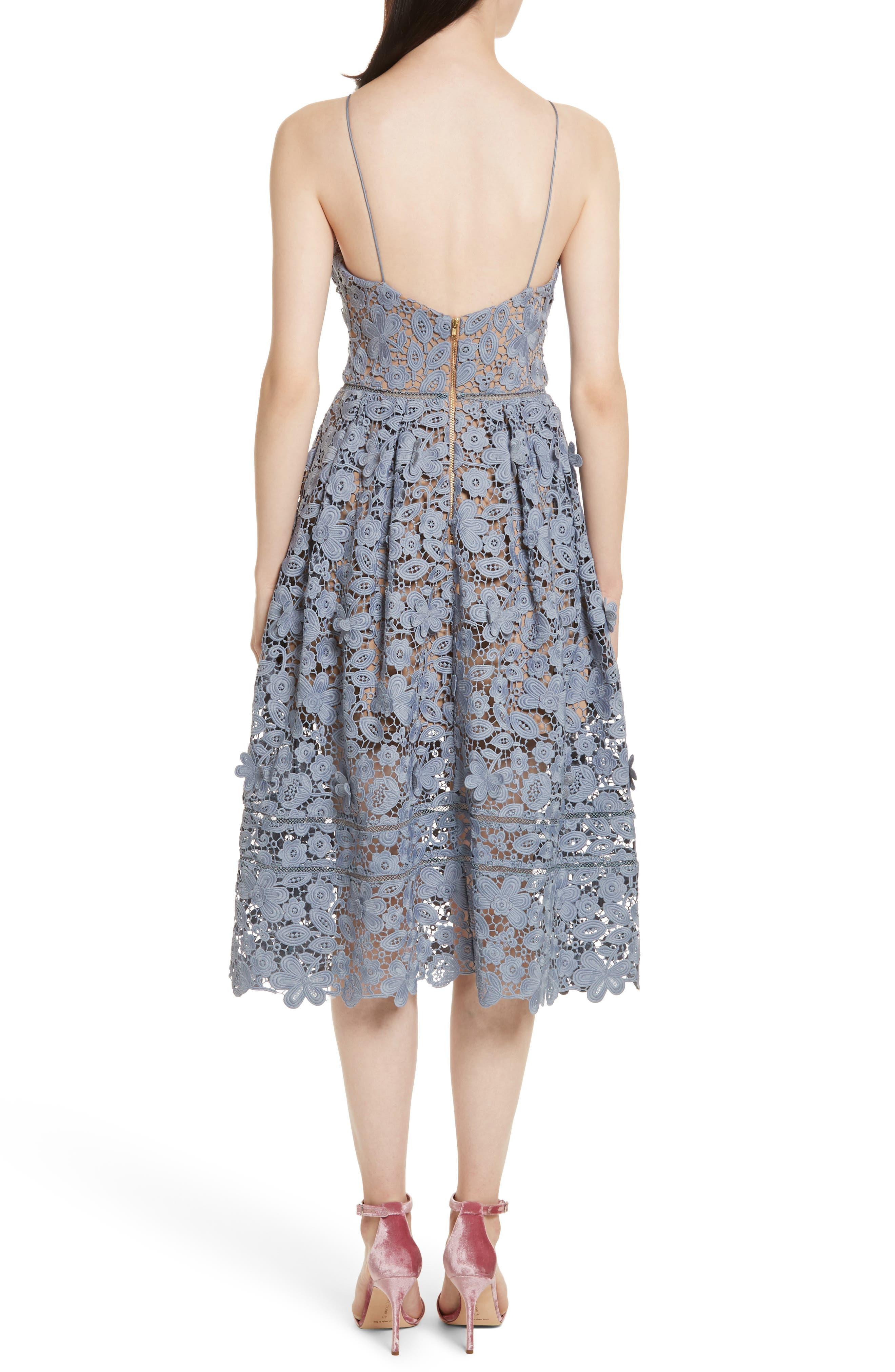 Alternate Image 2  - Self-Portrait Azaelea 3D Lace Fit & Flare Dress