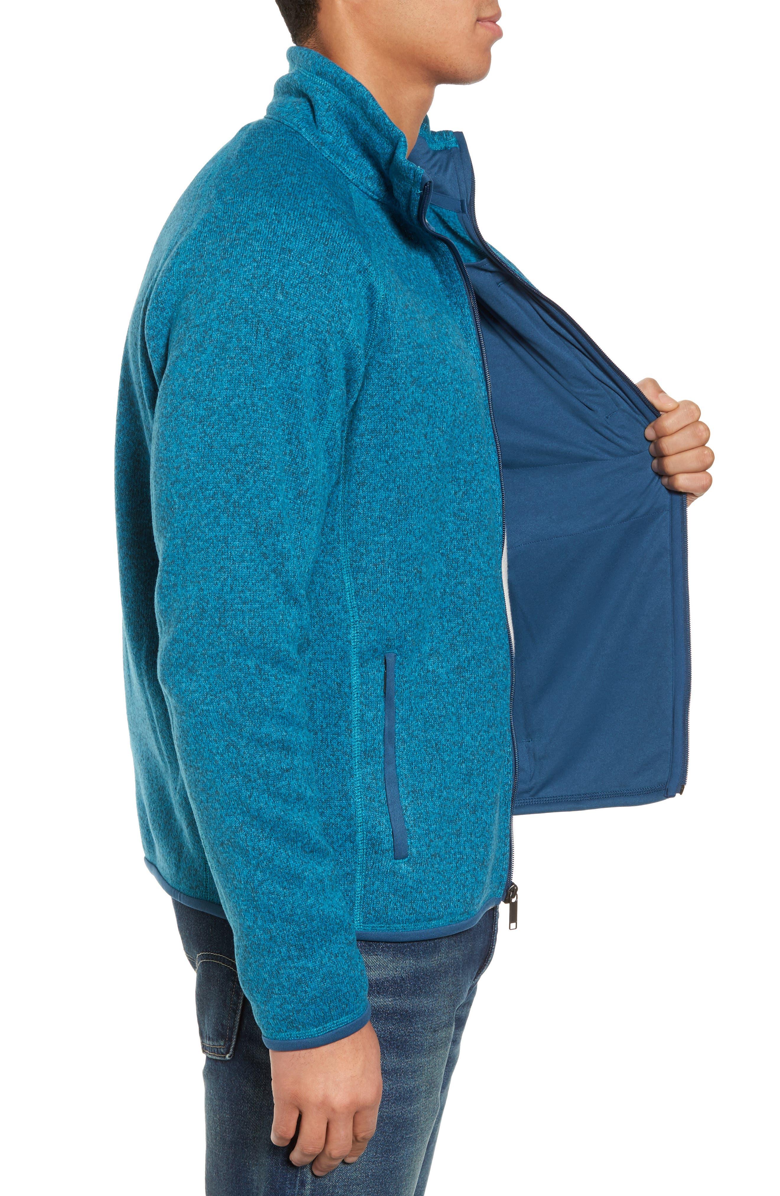 Better Sweater Zip Front Jacket,                             Alternate thumbnail 3, color,                             Filter Blue