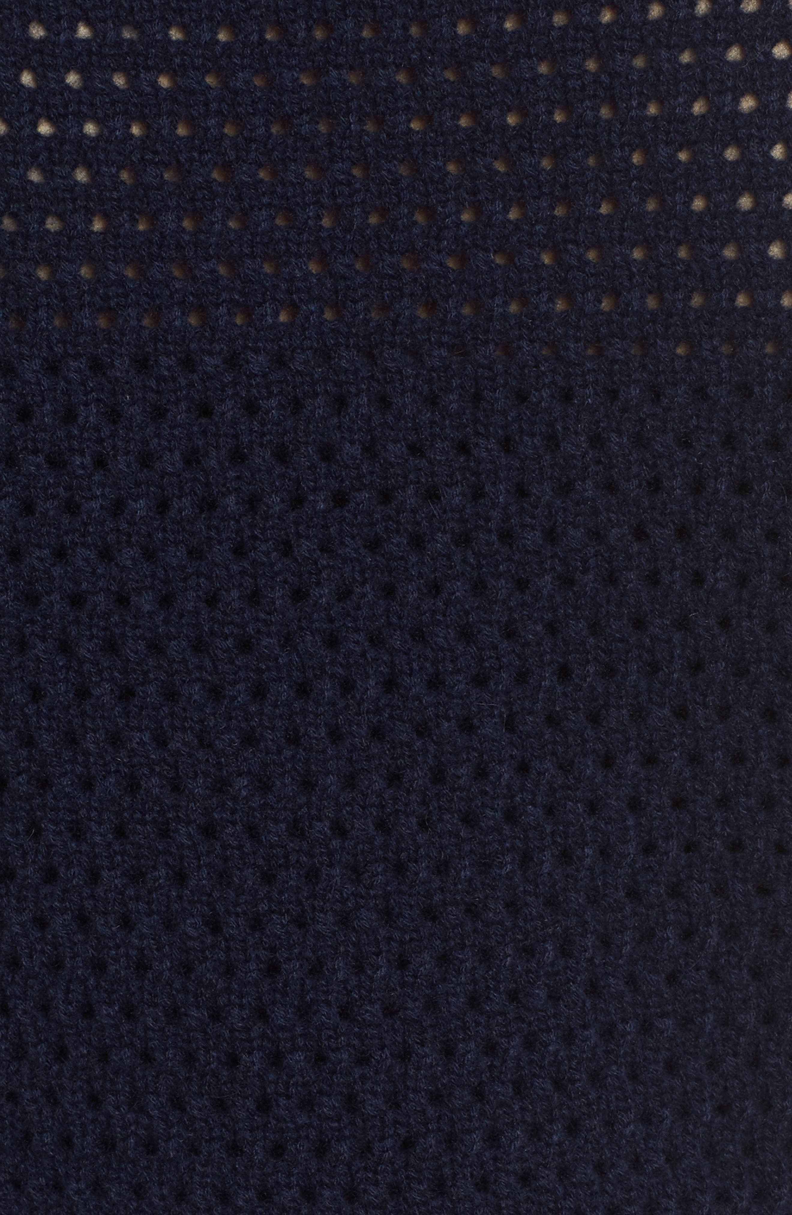Mixed Stitch Cashmere Sweater,                             Alternate thumbnail 5, color,                             Navy Medieval