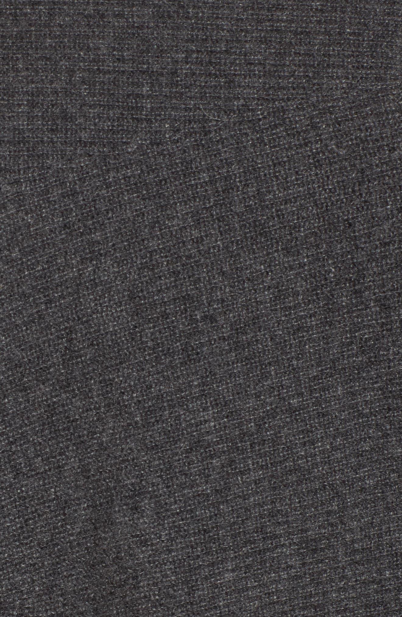 Dolman Sleeve Cashmere Sweater,                             Alternate thumbnail 5, color,                             Grey Castlerock Heather
