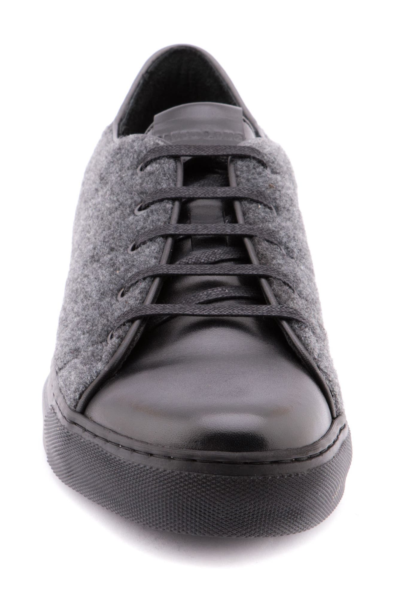 Travis Leather Sneaker,                             Alternate thumbnail 4, color,                             Grey