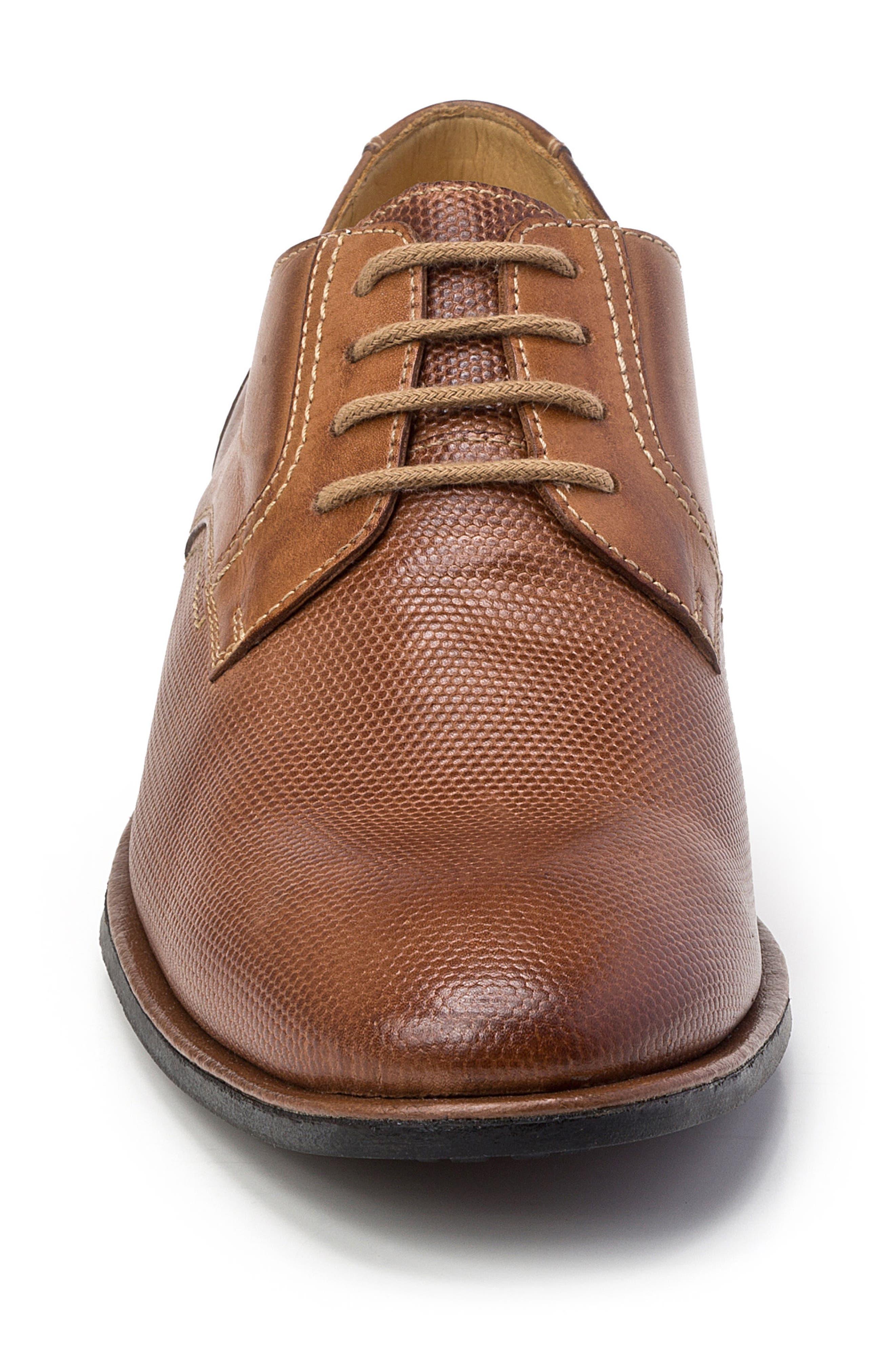 Trenso Plain Toe Derby,                             Alternate thumbnail 5, color,                             Tan Leather