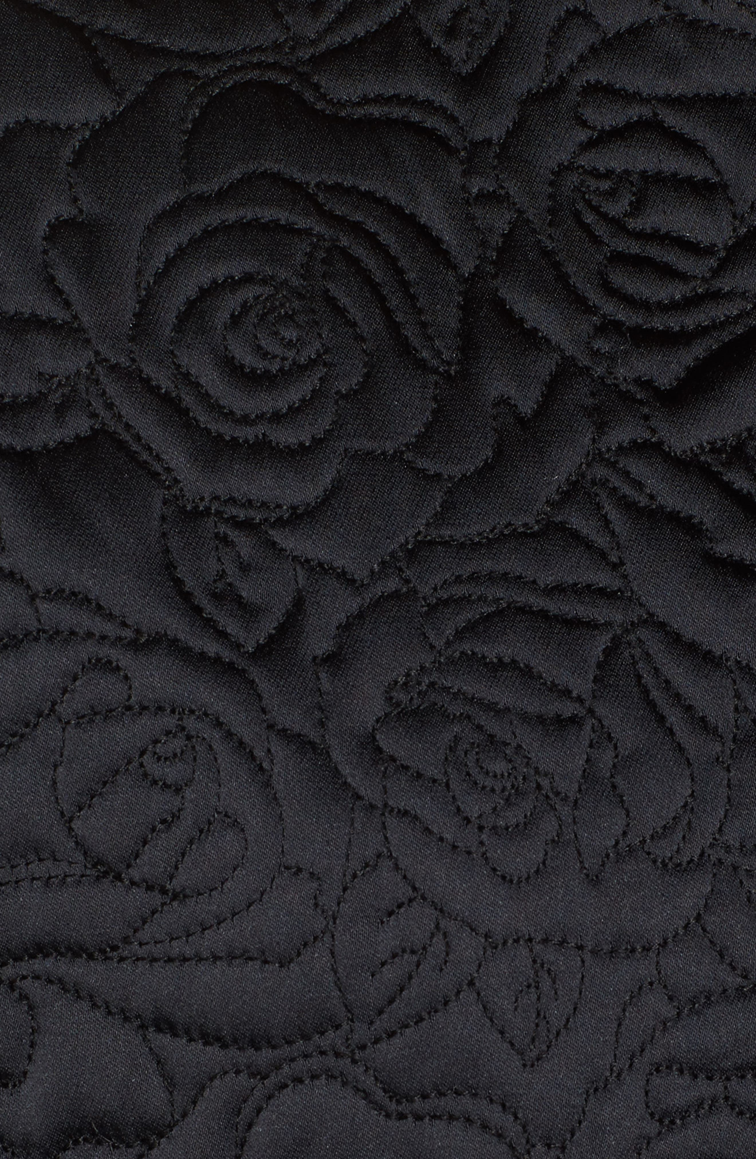 Floral Quilted Satin Jacket,                             Alternate thumbnail 5, color,                             Navy Night