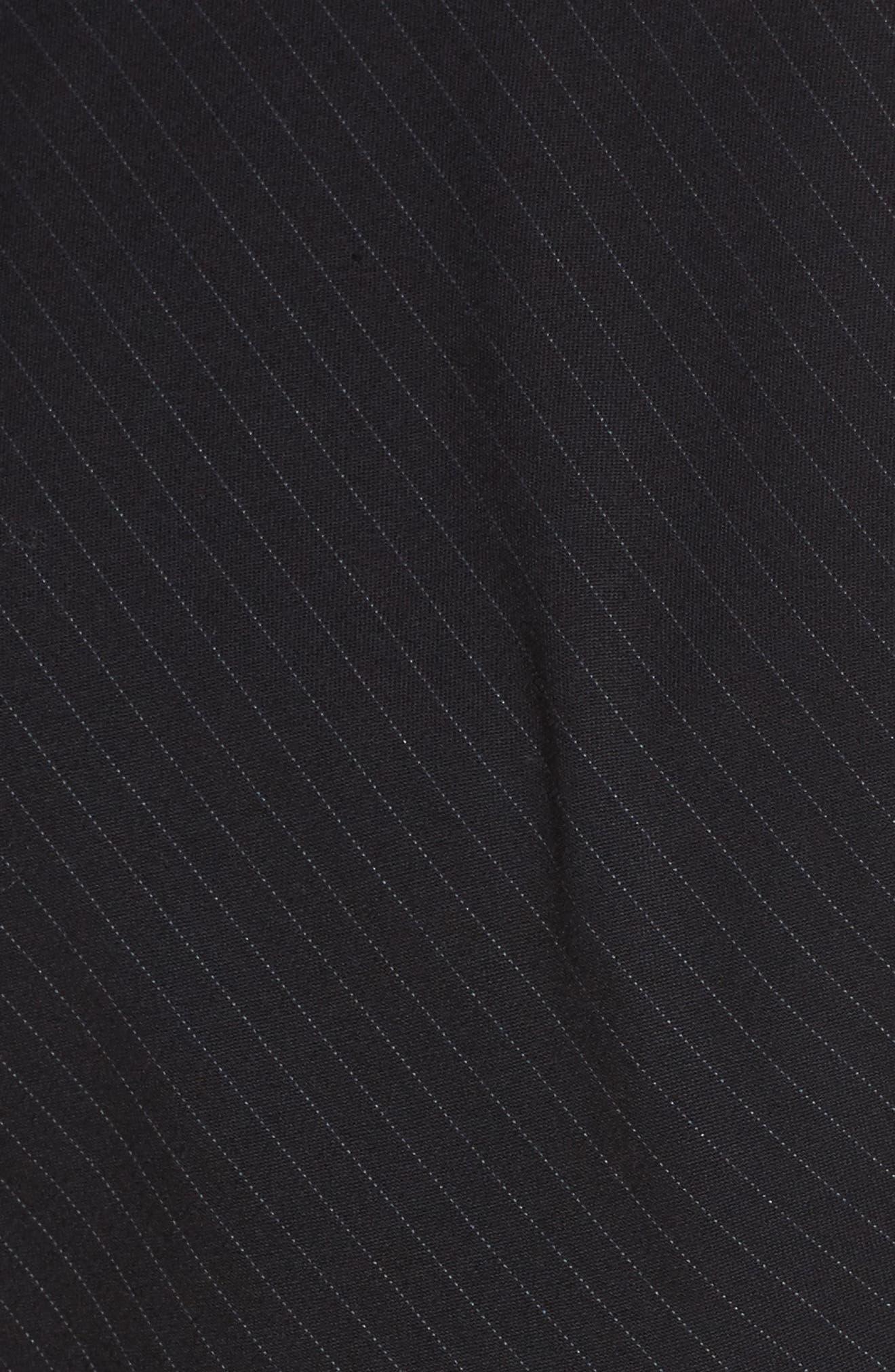 Bias Cut Pinstripe Jumper Dress,                             Alternate thumbnail 5, color,                             Navy Night Pinstripe