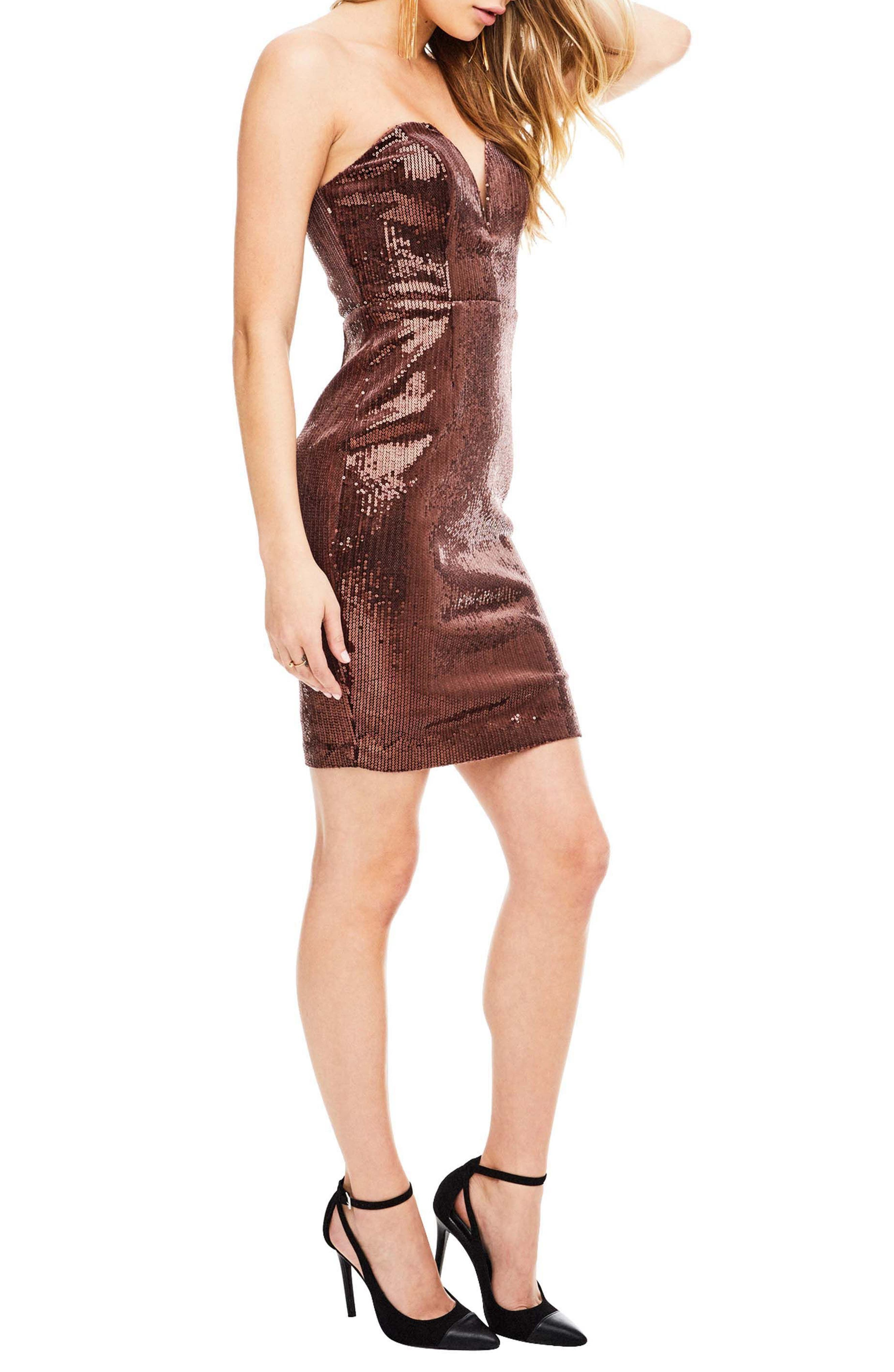 Alternate Image 4  - ASTR the Label Rizzo Sequin Strapless Dress