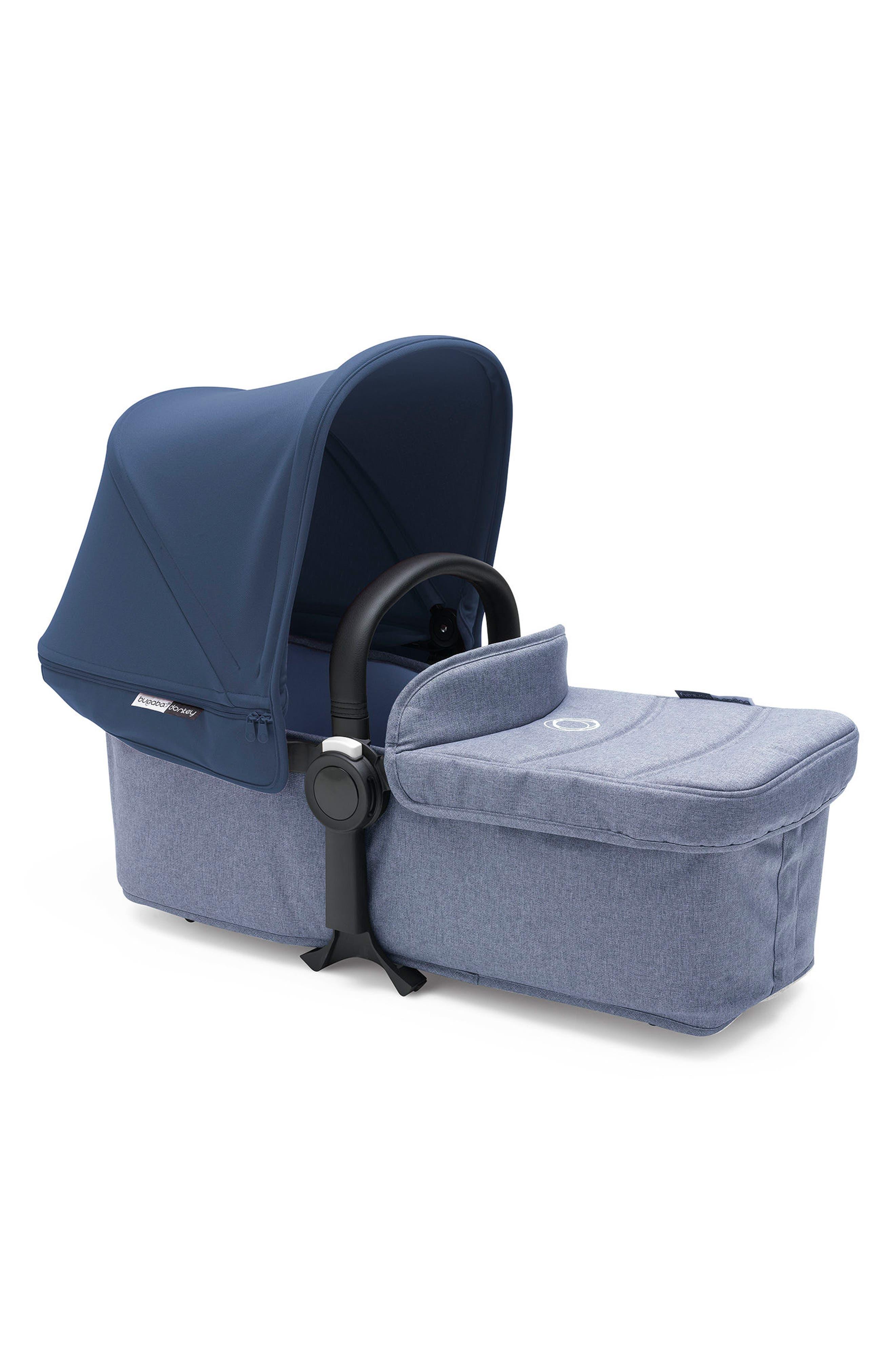 Bassinet Tailored Fabric Set for Donkey2 Stroller,                             Main thumbnail 1, color,                             Blue Melange