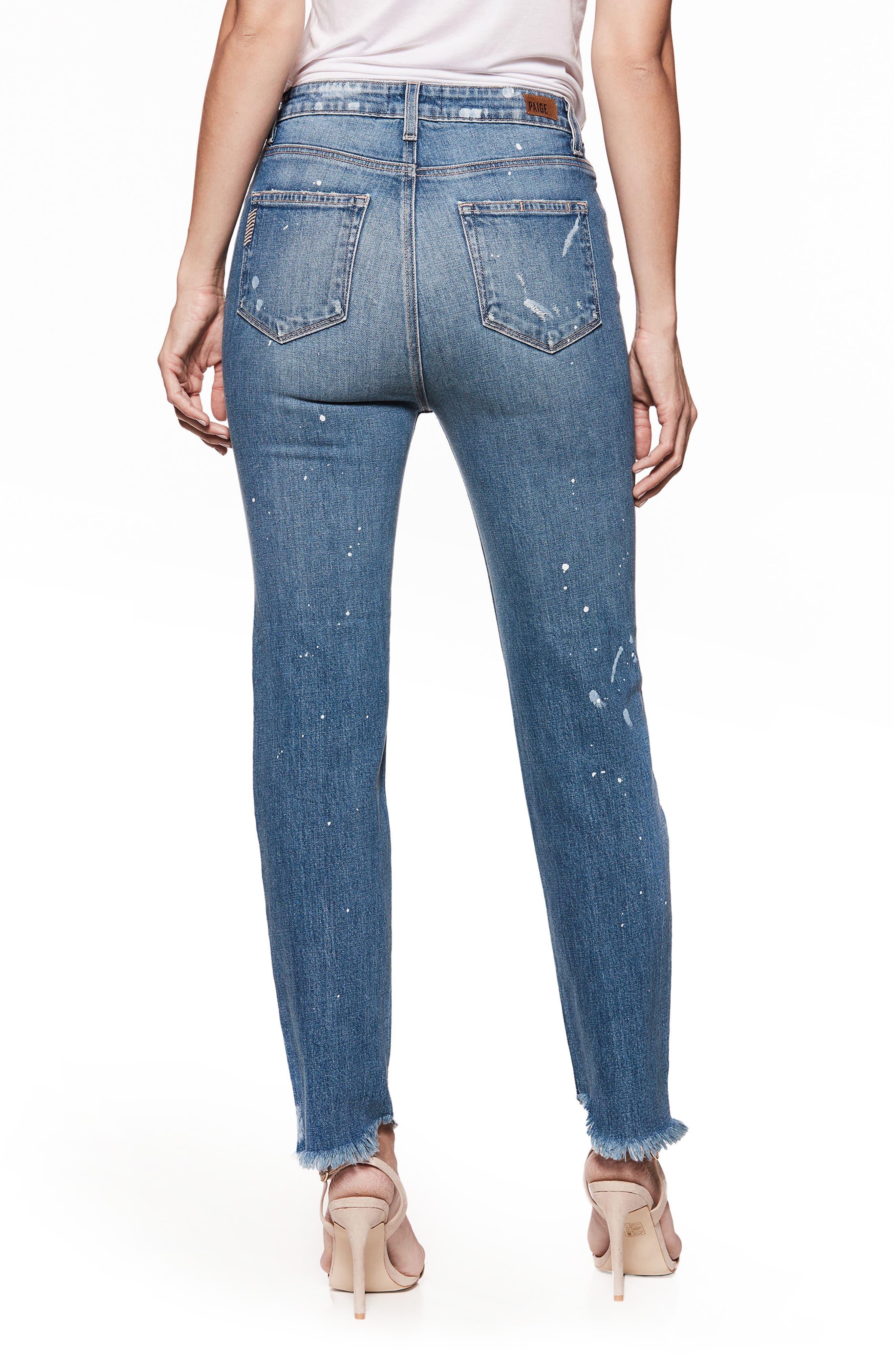 Sarah High Waist Straight Leg Jeans,                             Alternate thumbnail 2, color,                             Blue