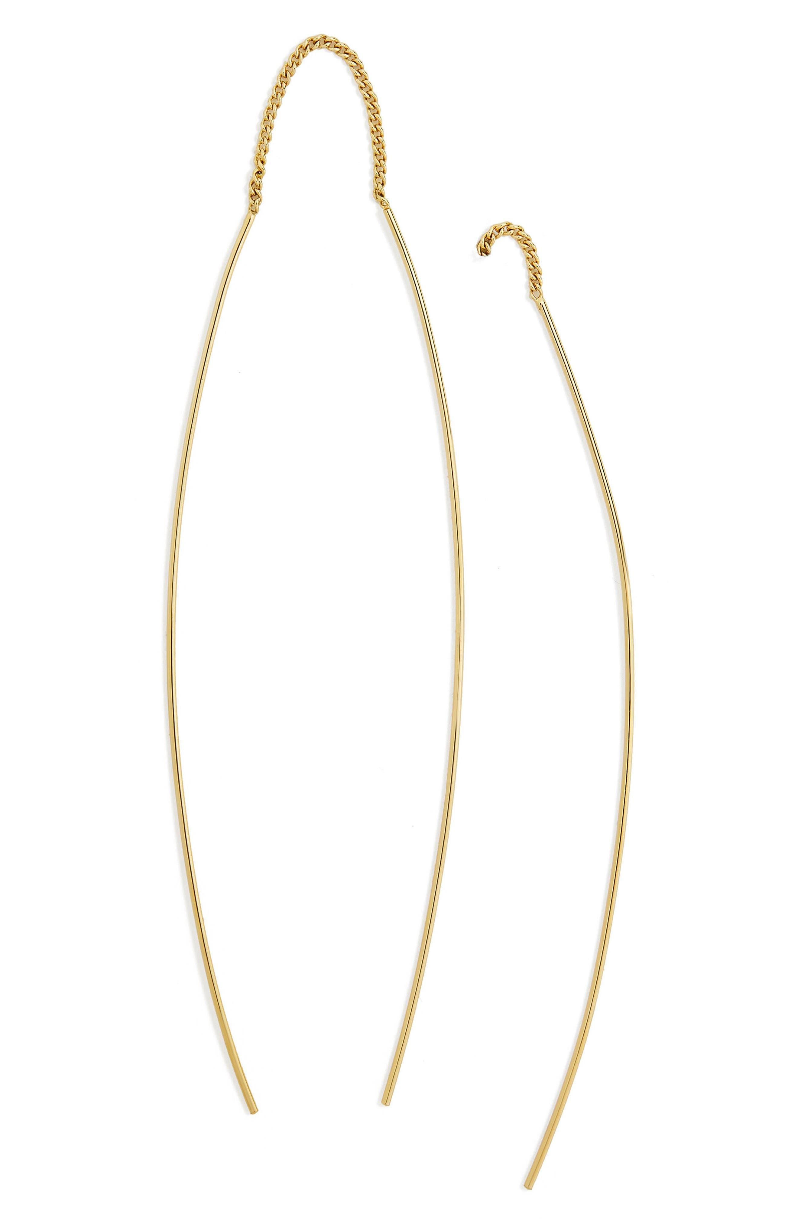 Dancer Threader Drop Earrings,                         Main,                         color, Gold