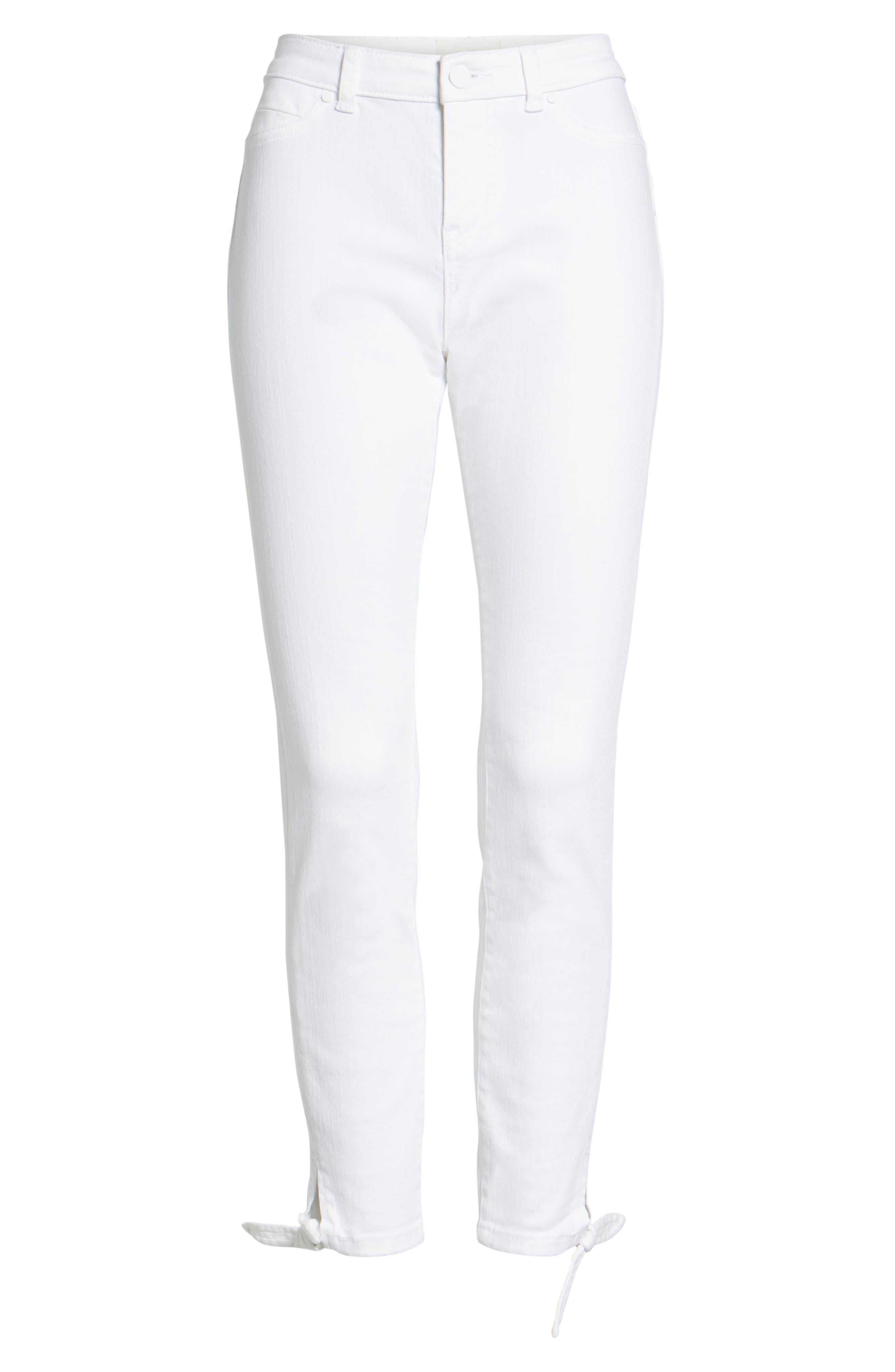 Alternate Image 7  - Caslon® Tie Ankle Skinny Jeans (Regular & Petite)