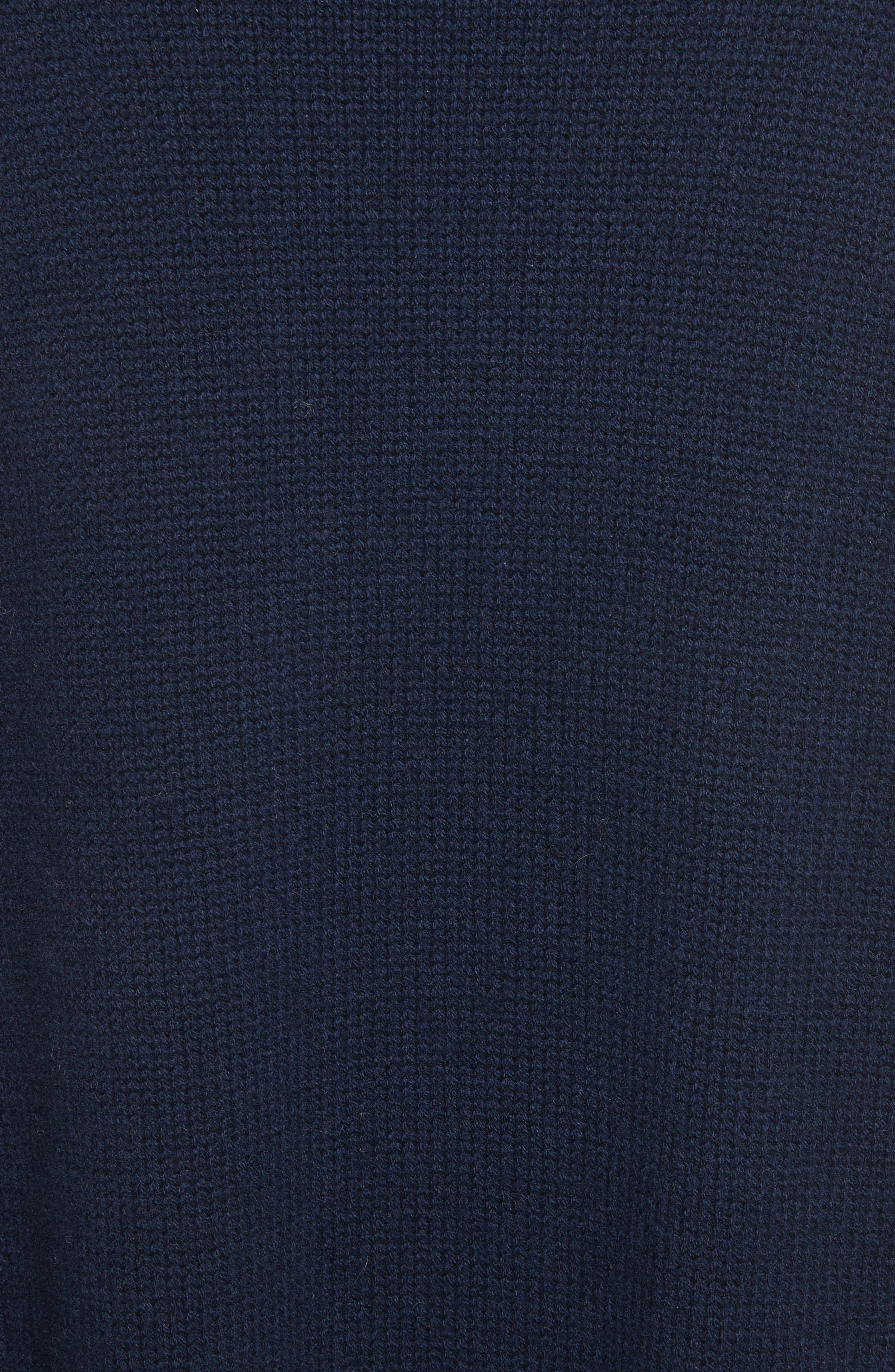 Babur Colorblock Long Wool Cardigan,                             Alternate thumbnail 5, color,                             Navy W/ Red