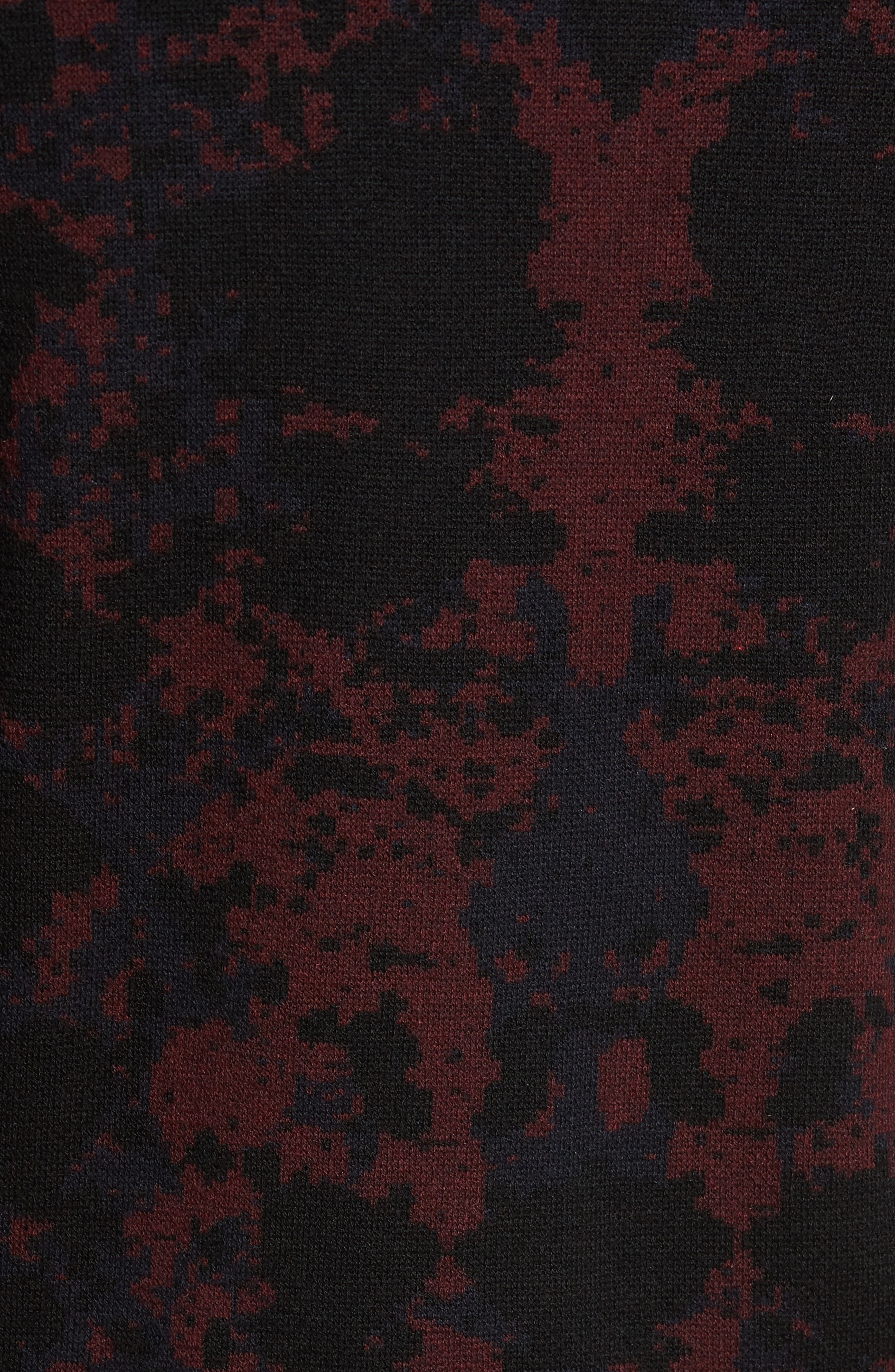 HUGO Sorach Print Slim Fit Sweater,                             Alternate thumbnail 5, color,                             Red
