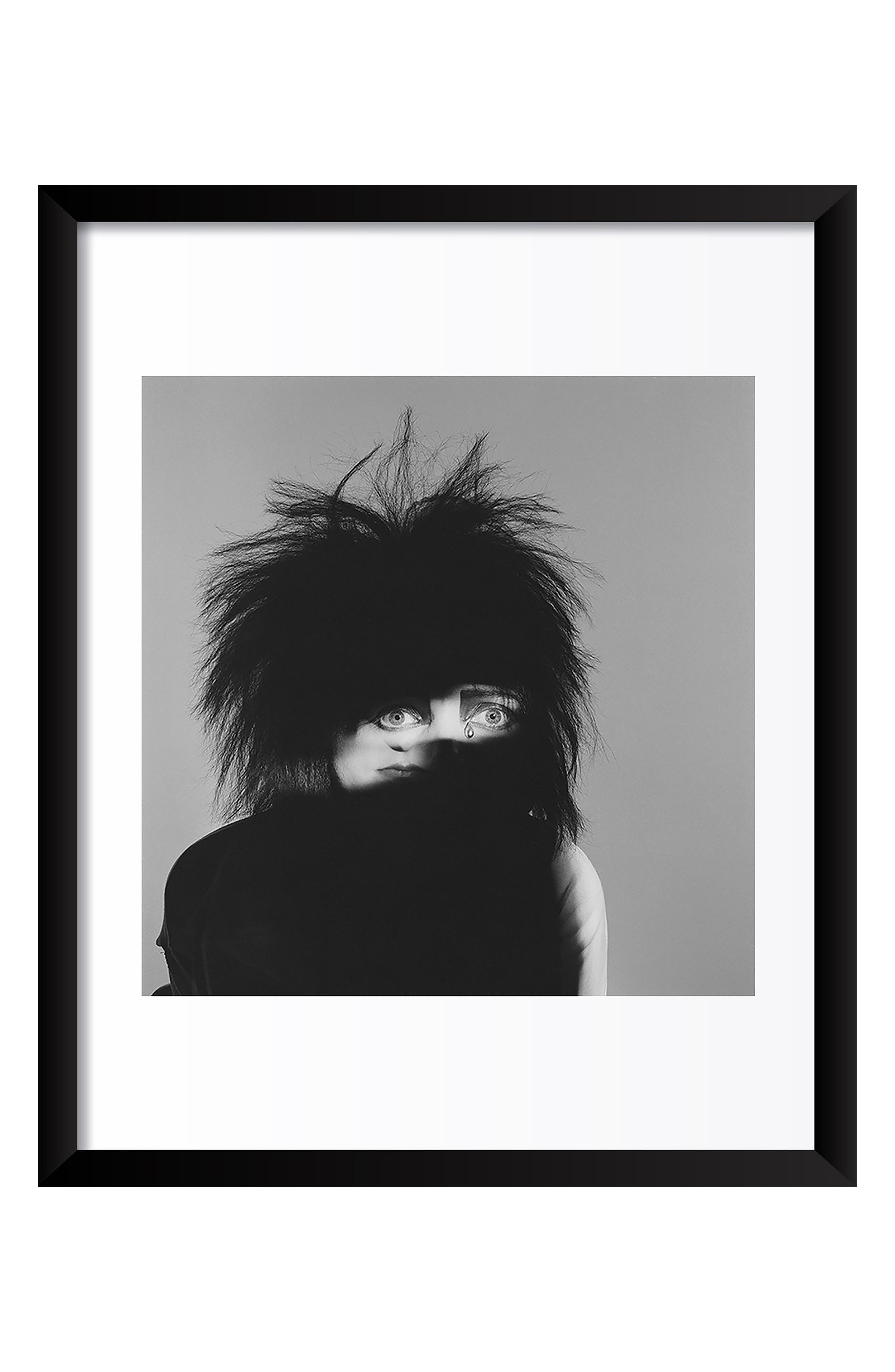 Siouxsie Sioux Fine Art Print,                         Main,                         color, Black