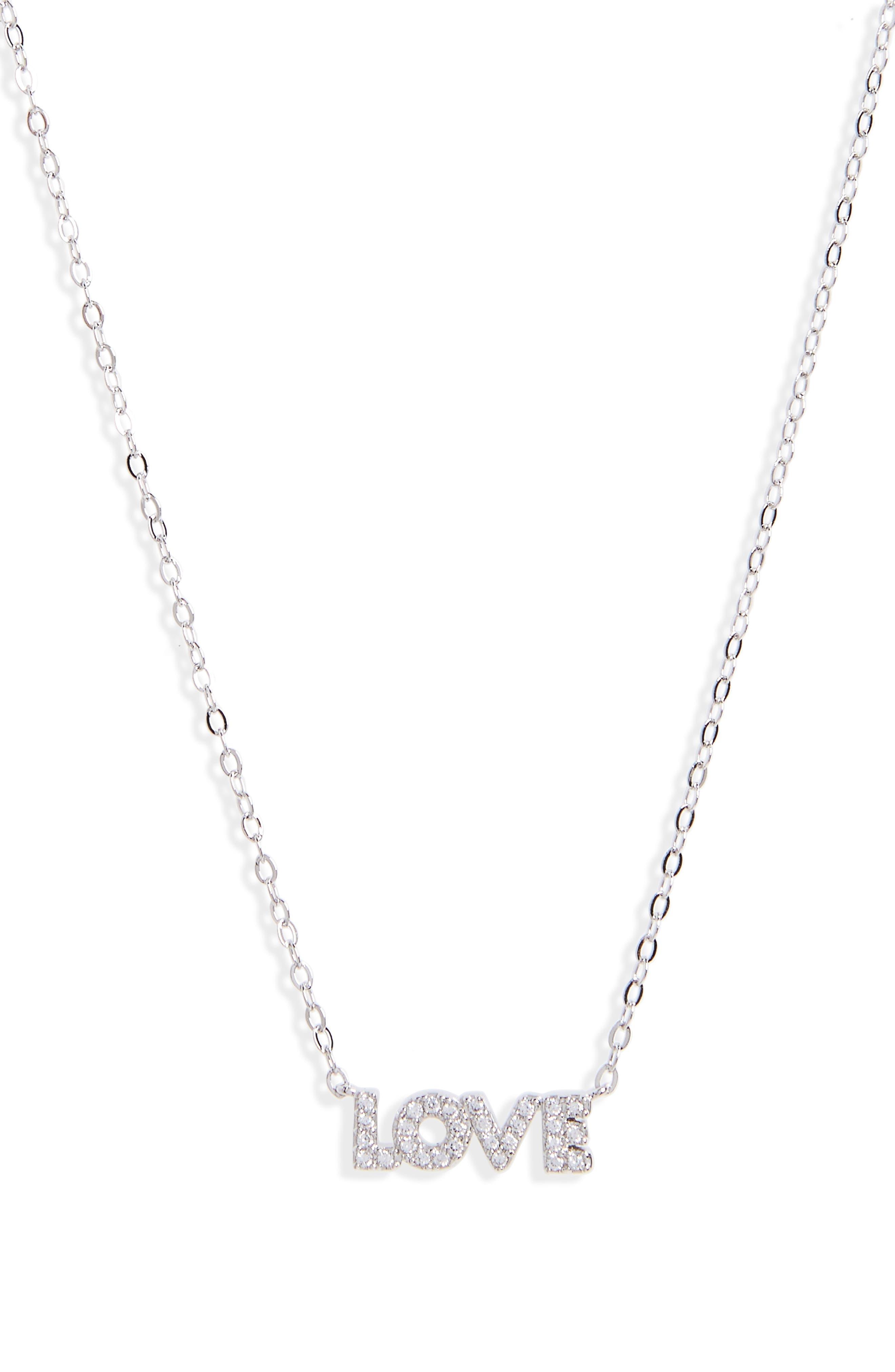 Alternate Image 1 Selected - Nadri Sentimental Love Pendant Necklace