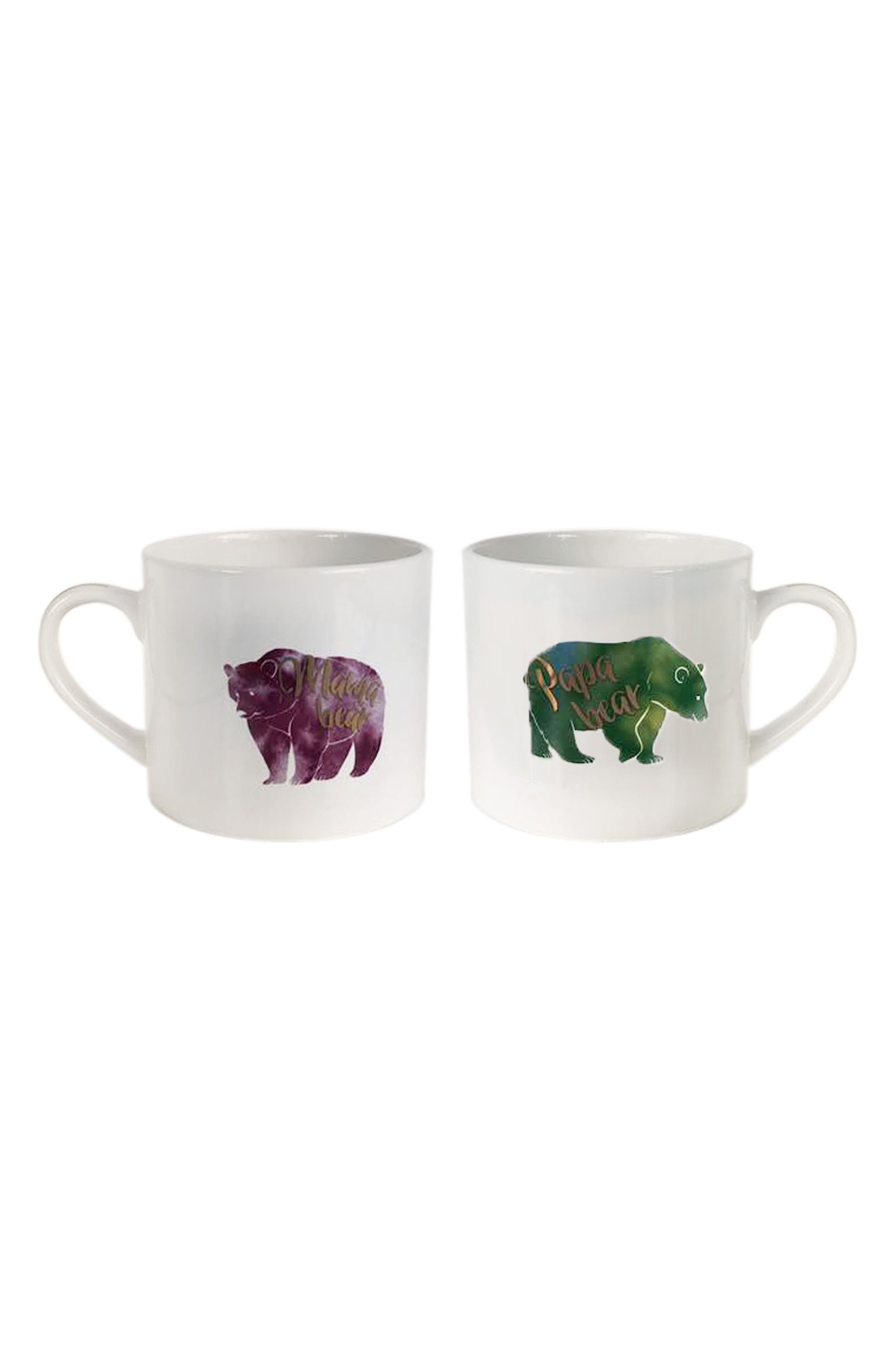Papa Bear & Mama Bear Set of 2 Mugs,                         Main,                         color, White