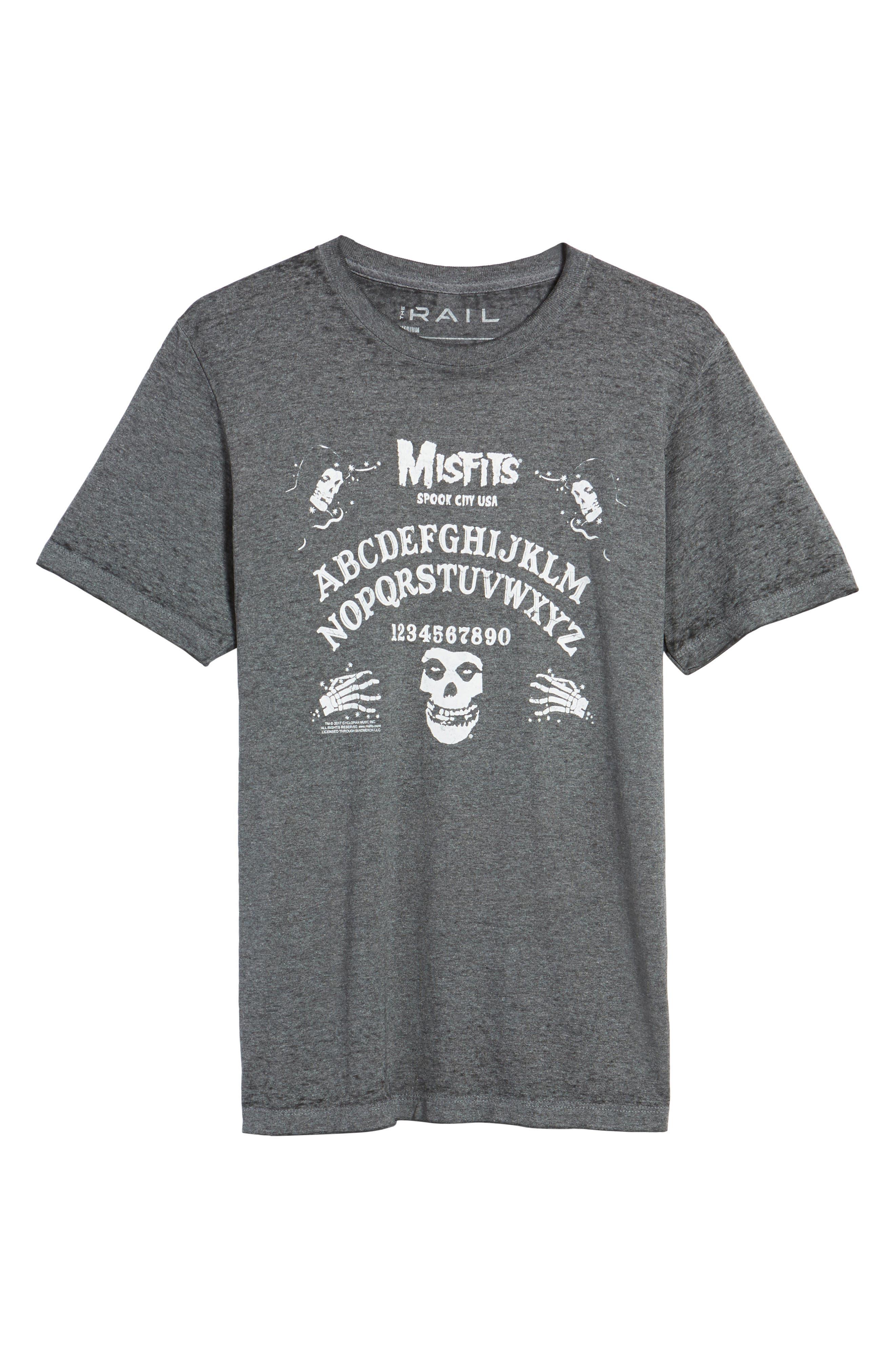 Misfits Short Sleeve T-Shirt,                             Alternate thumbnail 6, color,                             Black Misfits Ouija