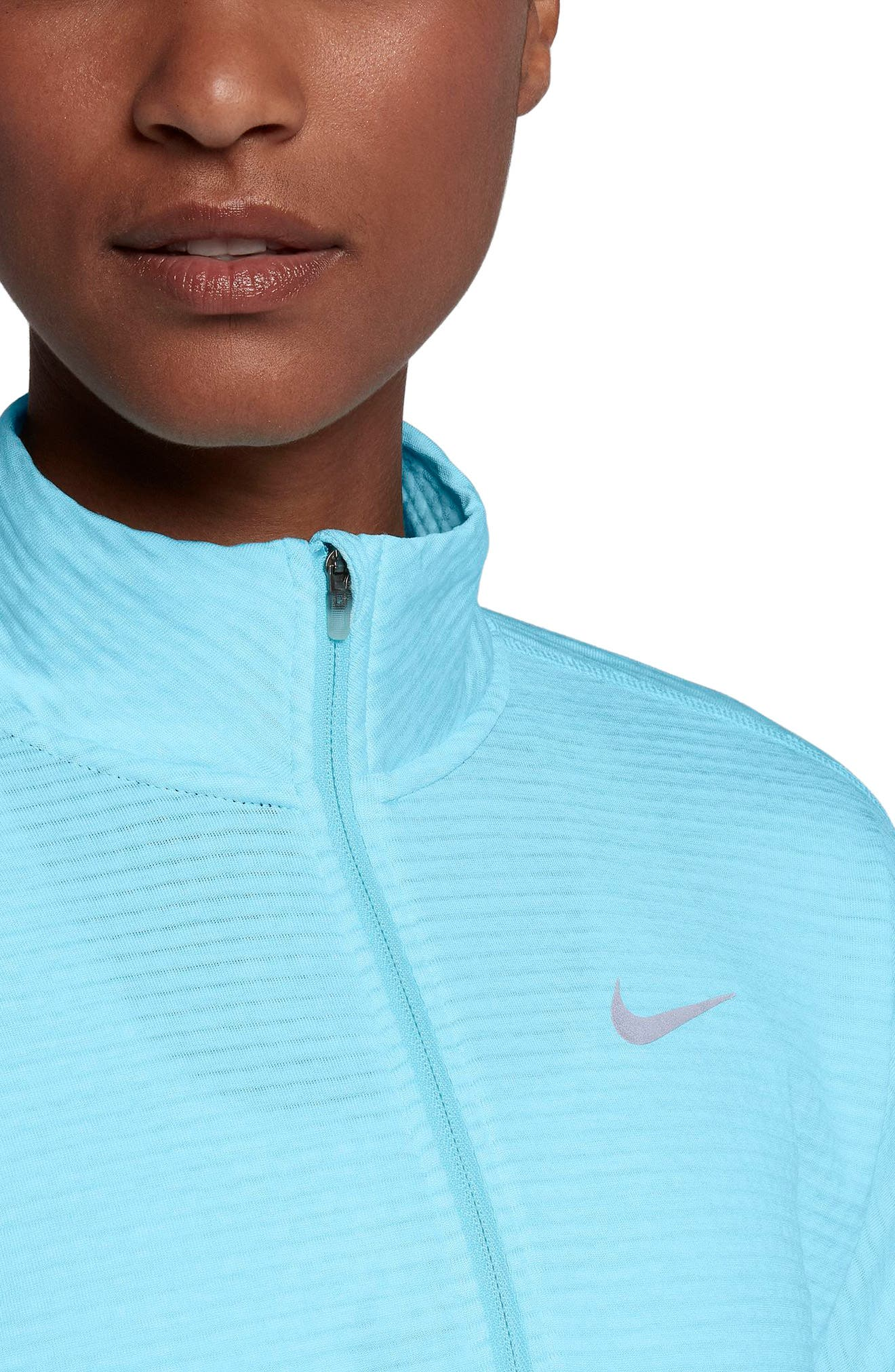 Therma Sphere Element Running Pullover Top,                             Alternate thumbnail 4, color,                             Polarized Blue/ Htr