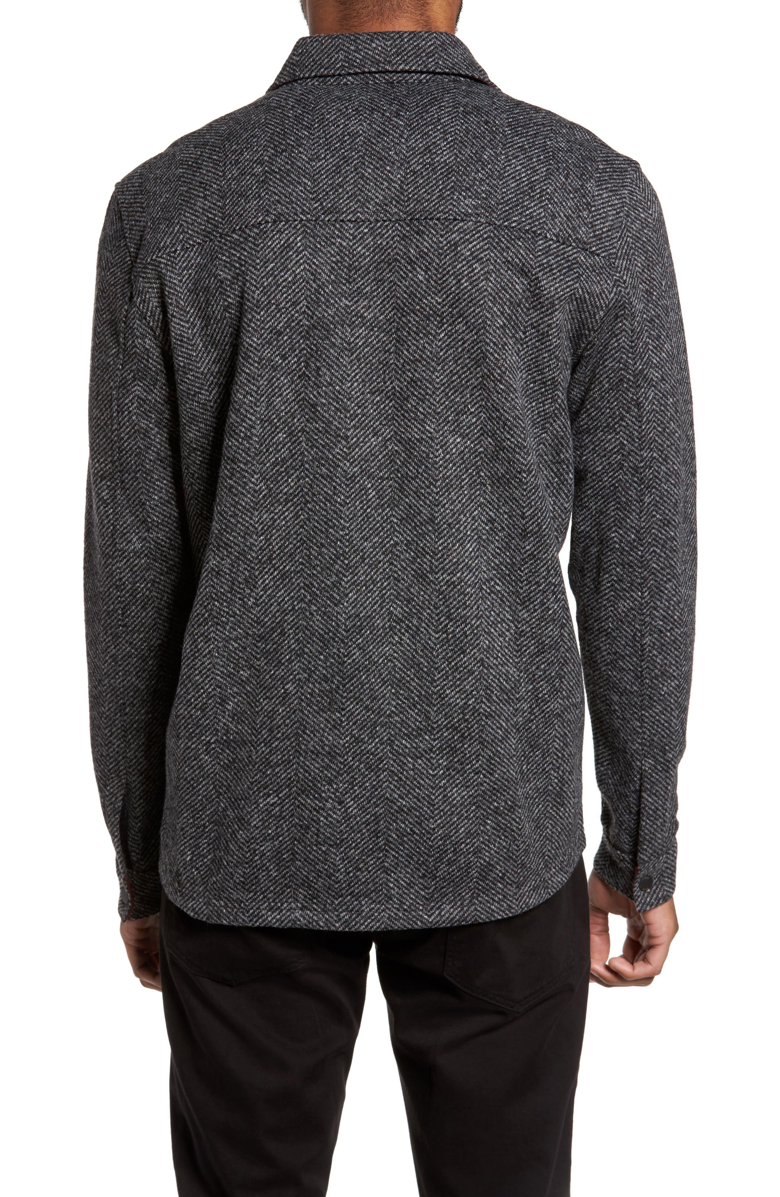 Alternate Image 2  - Ted Baker London Chelts Slim Fit Herringbone Overshirt