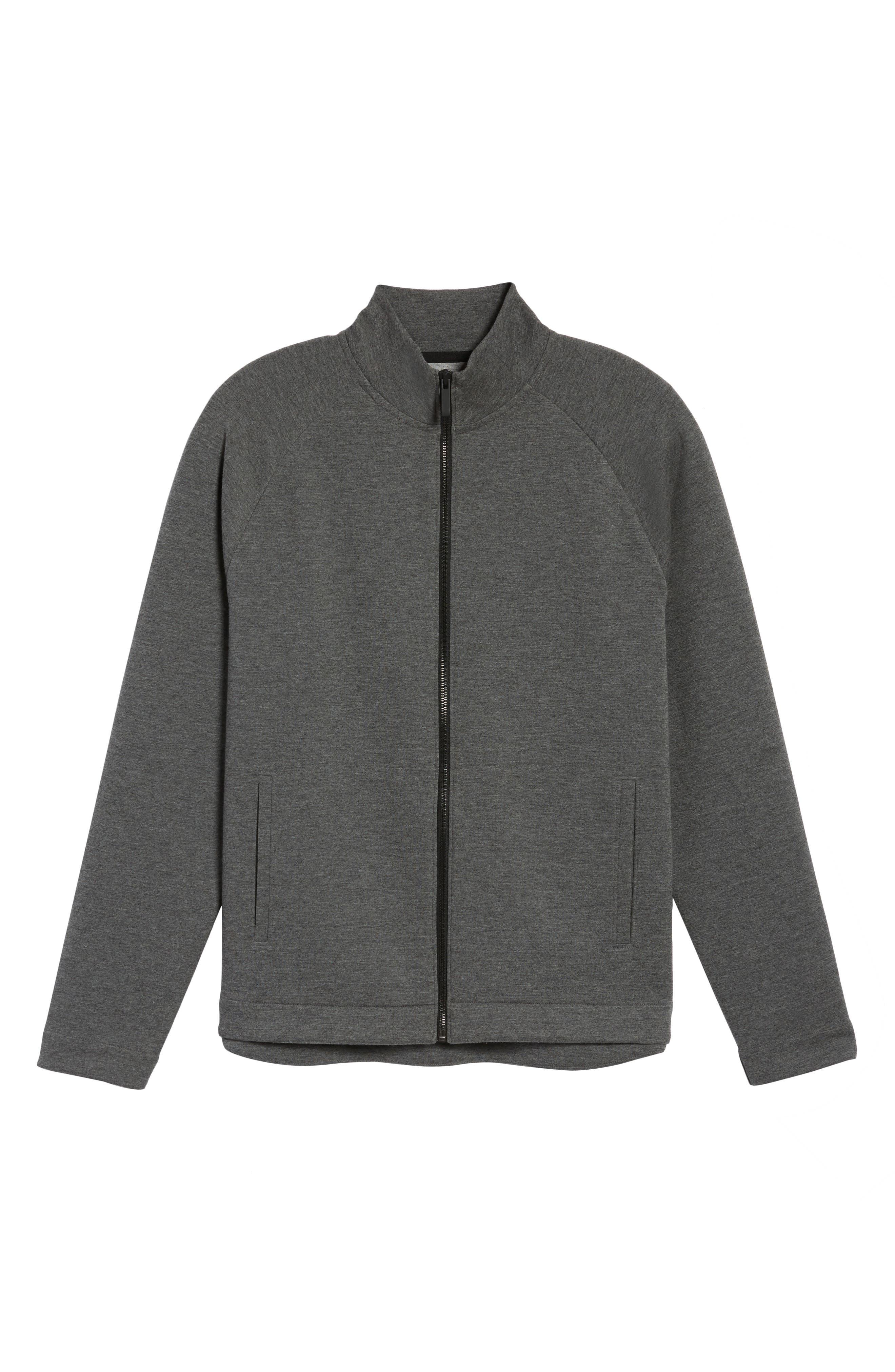 Fleece Jacket,                             Alternate thumbnail 6, color,                             Grey Magnet Heather