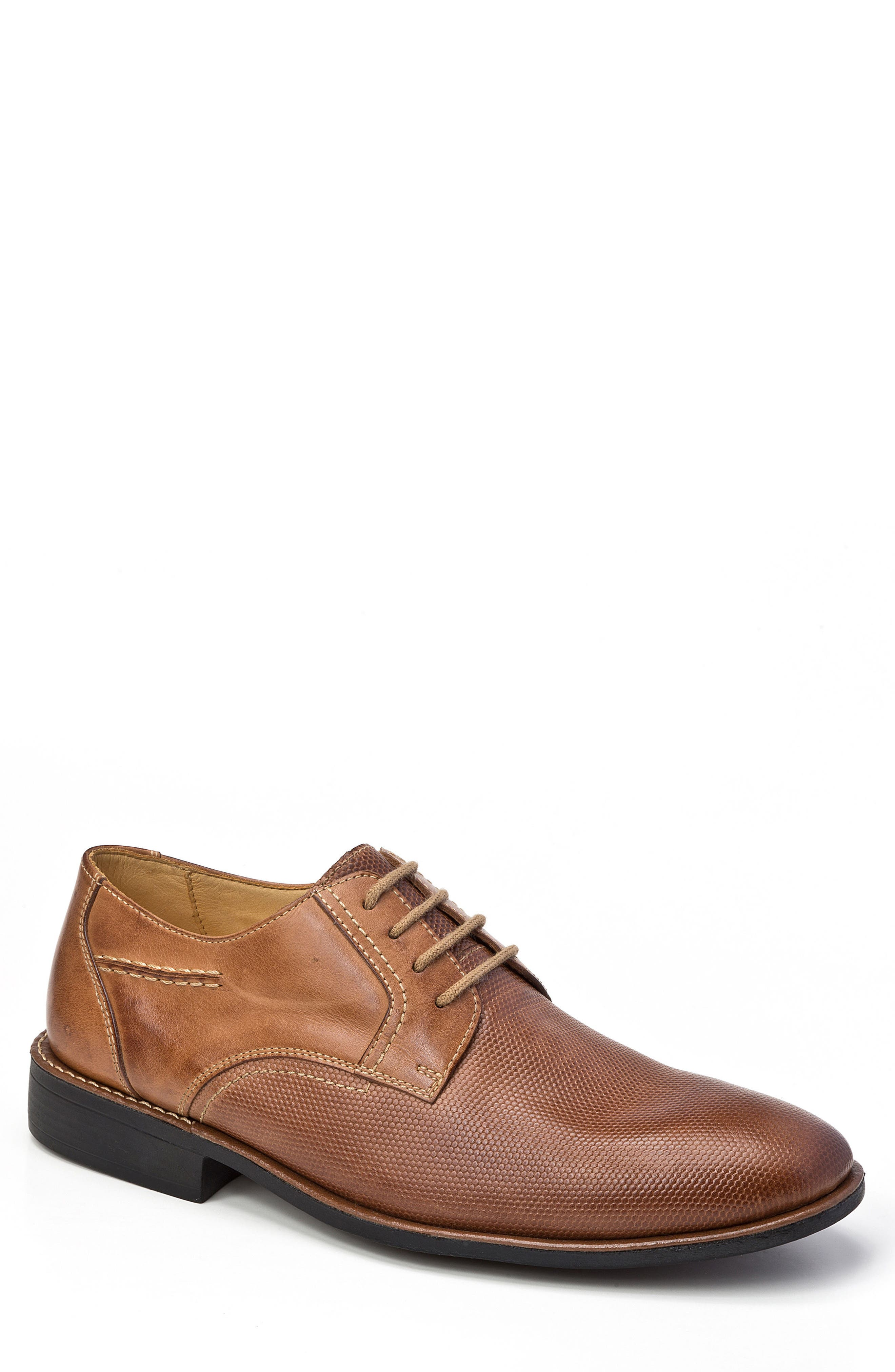 Trenso Plain Toe Derby,                         Main,                         color, Tan Leather