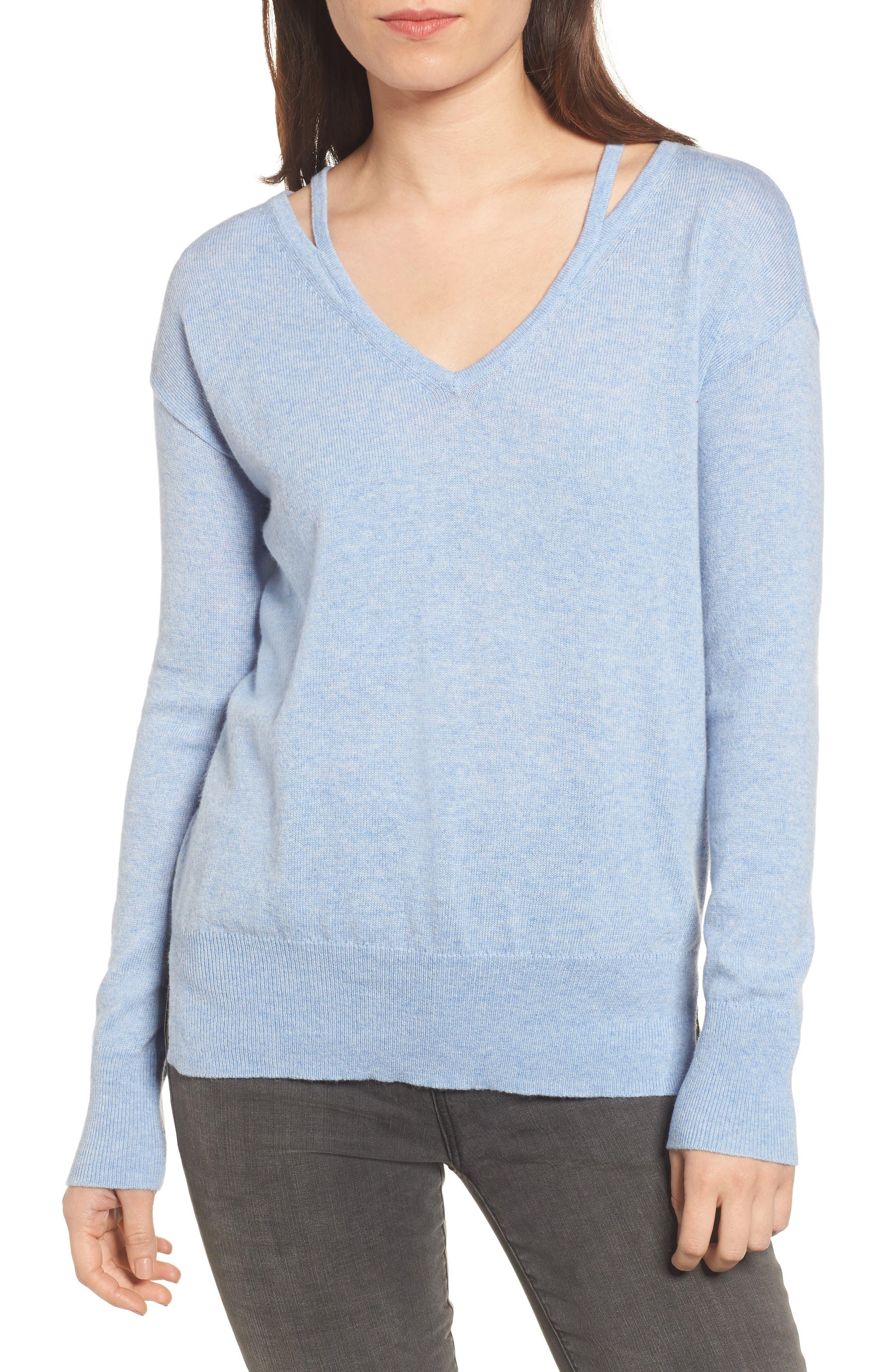 Kenley Wool & Cashmere Sweater,                         Main,                         color, Lavender/ Blue