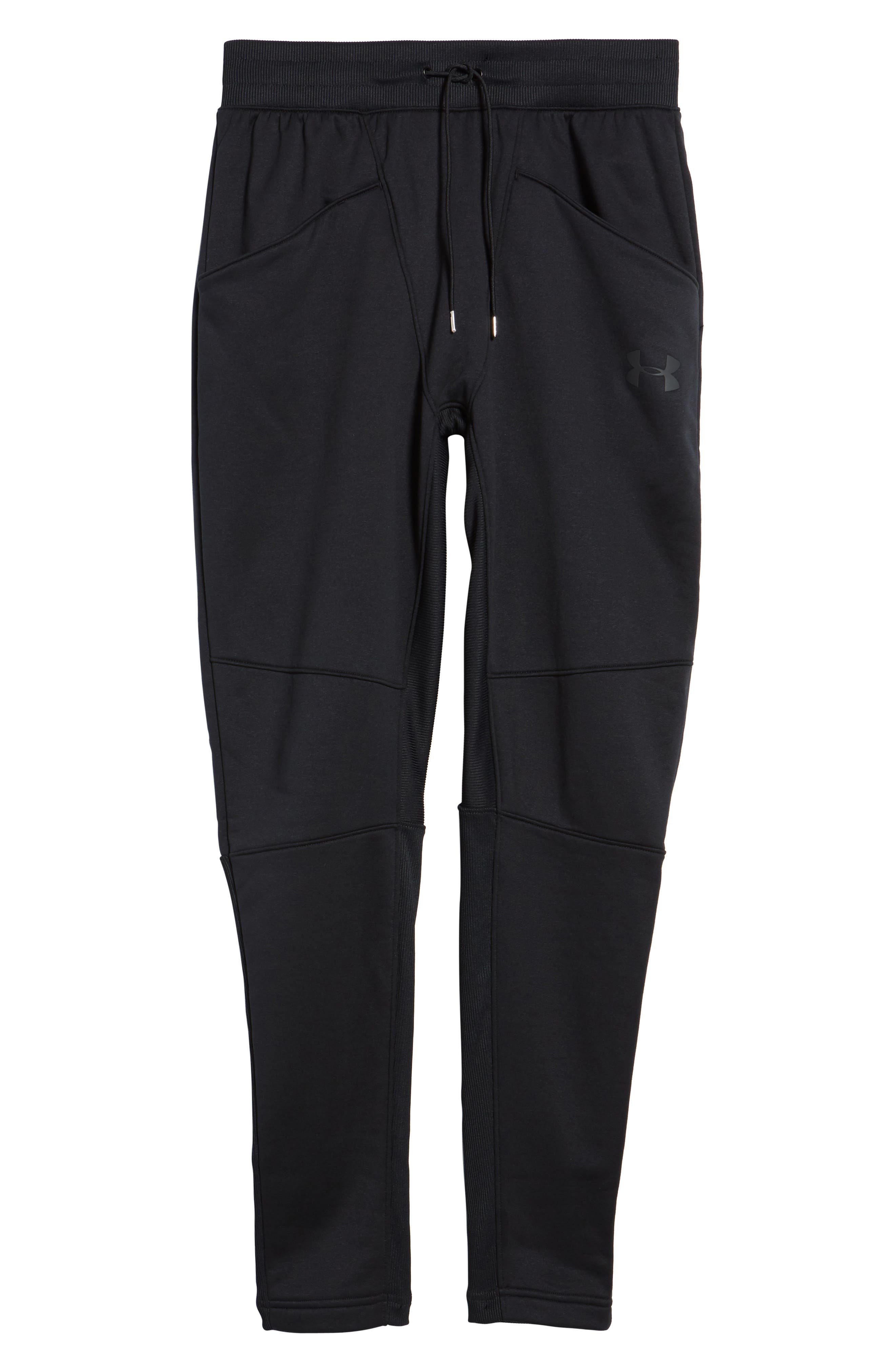 Courtside Training Pants,                             Alternate thumbnail 6, color,                             Black / Black / Black