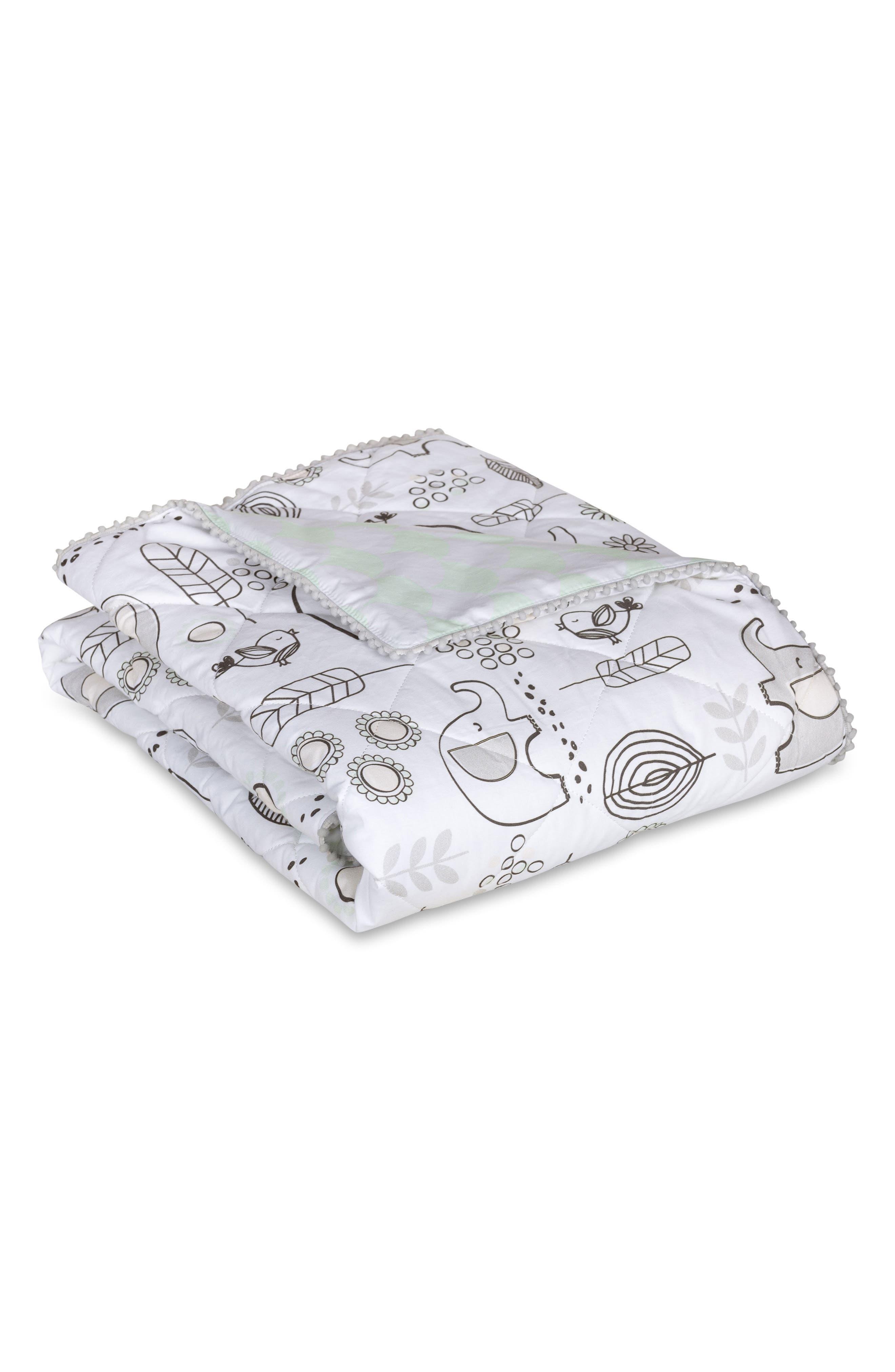 Elle Elephant 4-Piece Crib Bedding Set,                             Alternate thumbnail 5, color,                             Kayden - Elle Elephant
