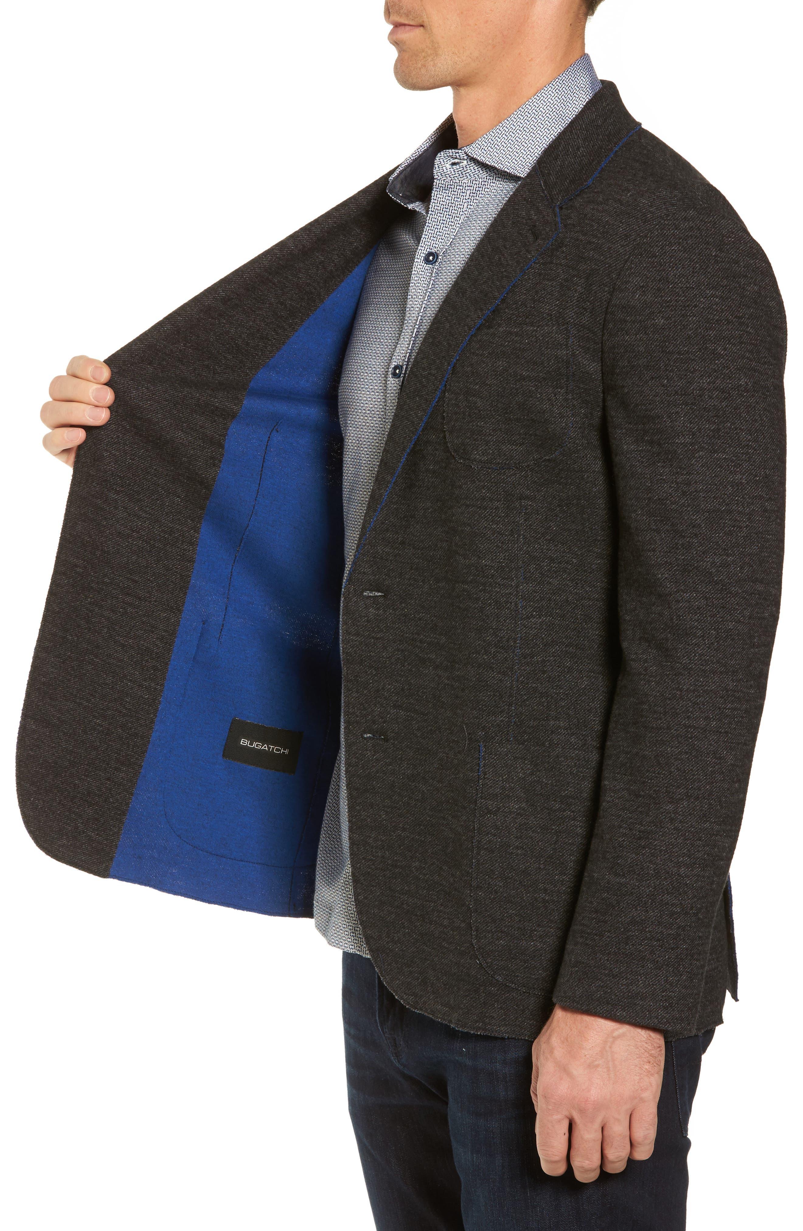 Alternate Image 3  - Bugatchi Raw Edge Cotton Blend Blazer