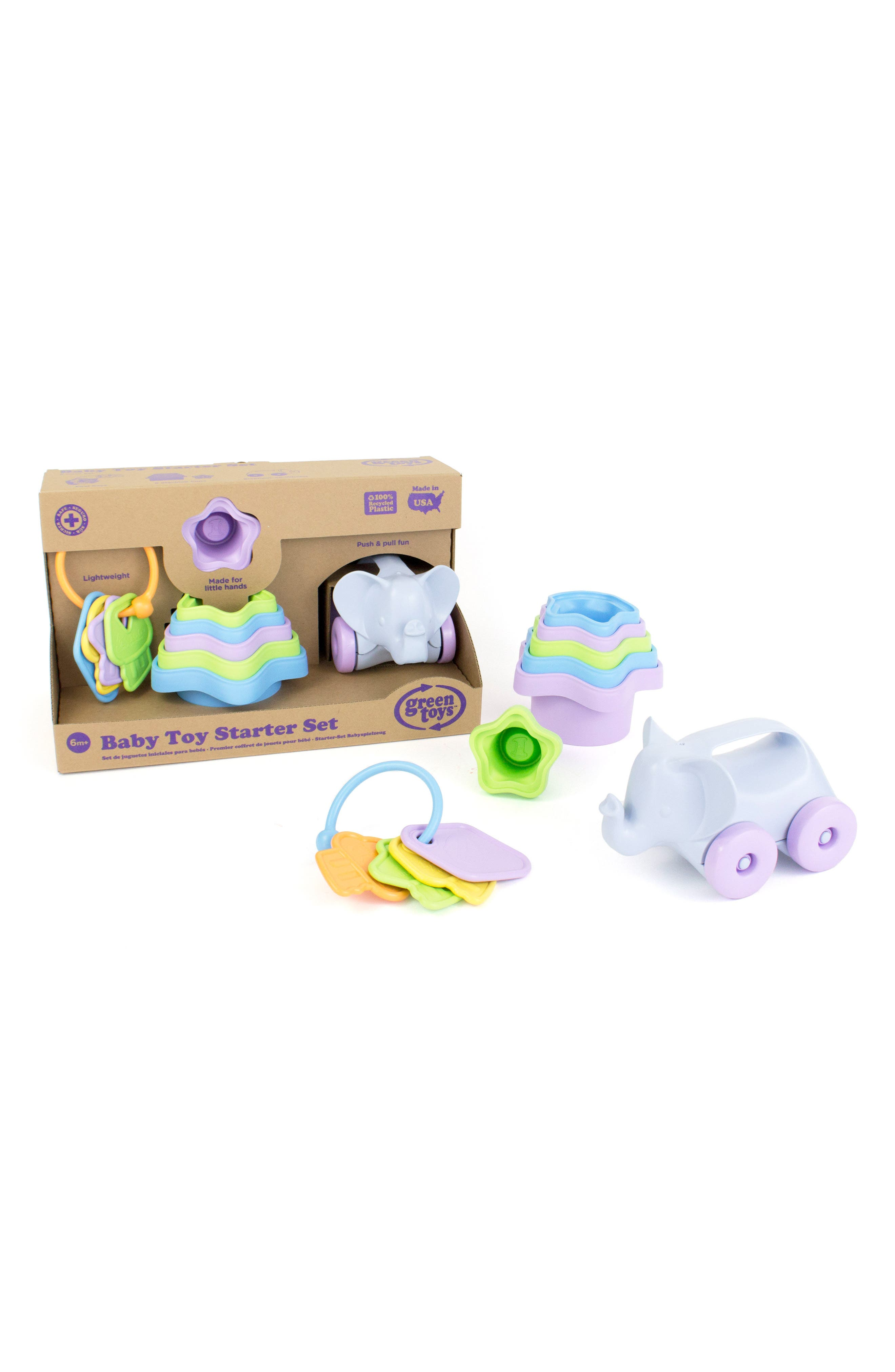 Eight-Piece Baby Toy Starter Set,                         Main,                         color, Blue Multi