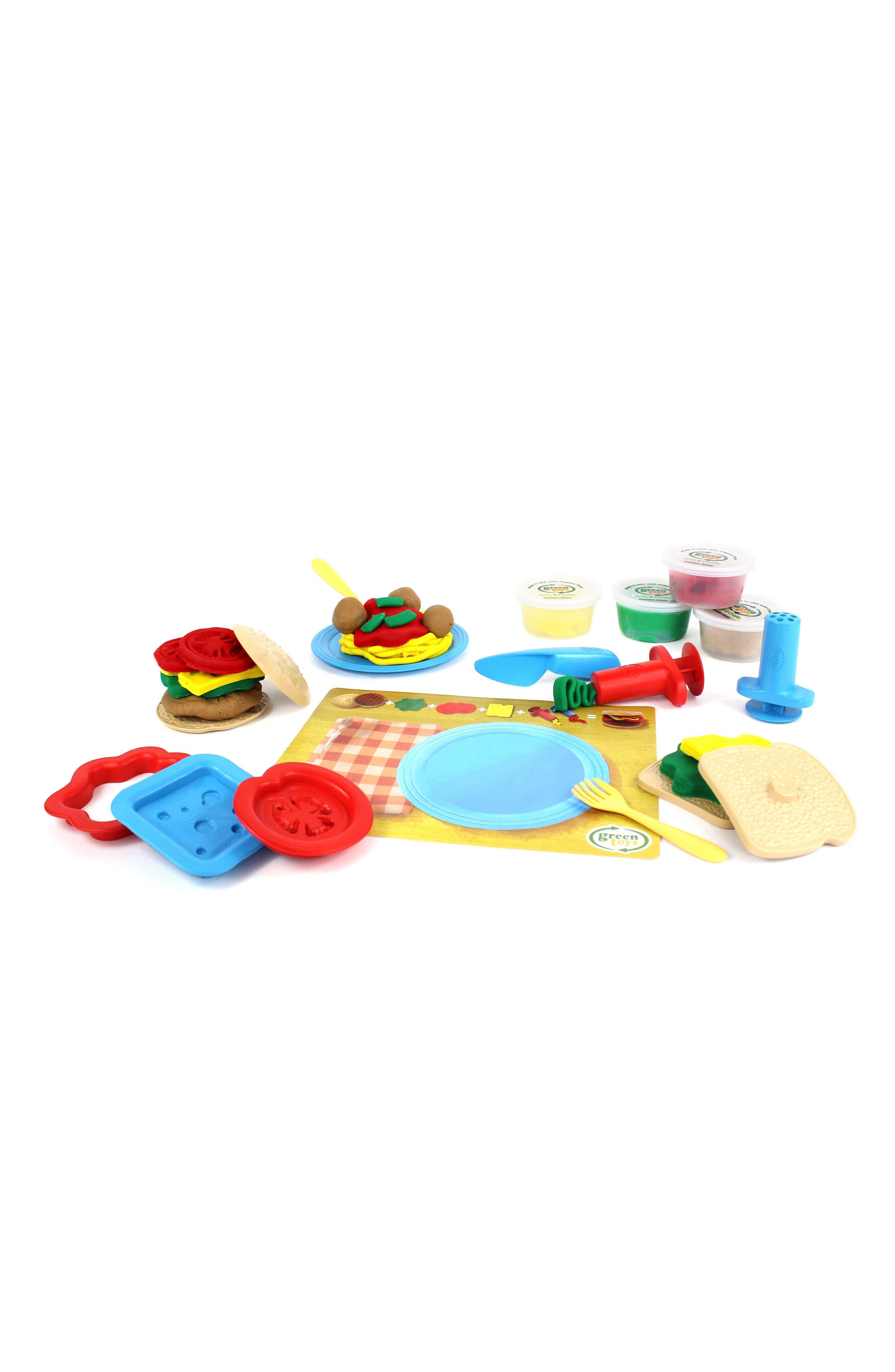 Alternate Image 2  - Green Toys 18-Piece Plastic Meal Maker Dough Set