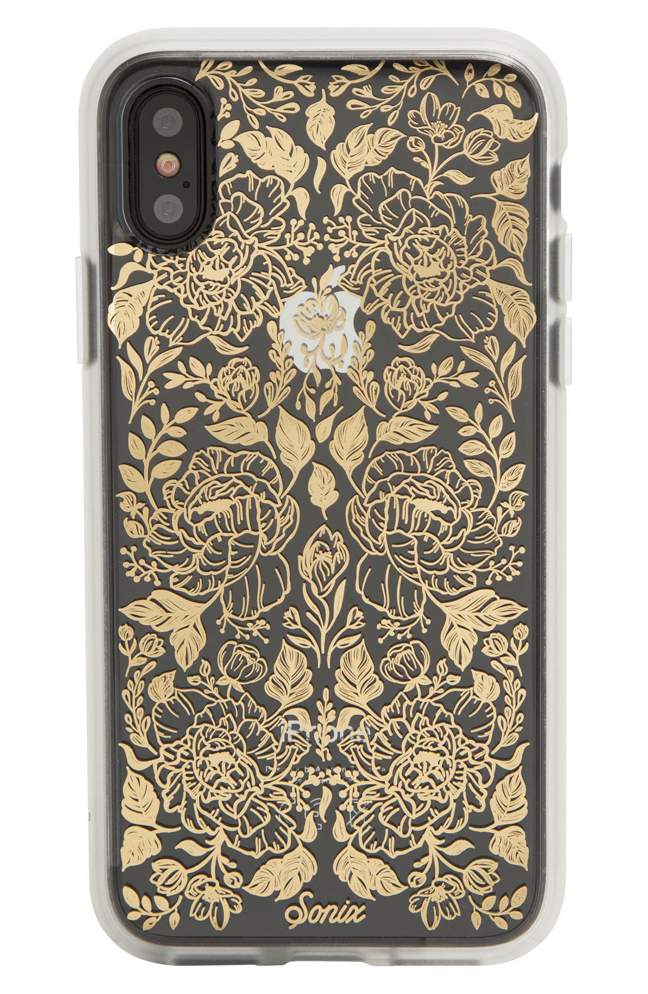Secret Garden Print iPhone X Case,                             Alternate thumbnail 3, color,                             Clear/ Multi