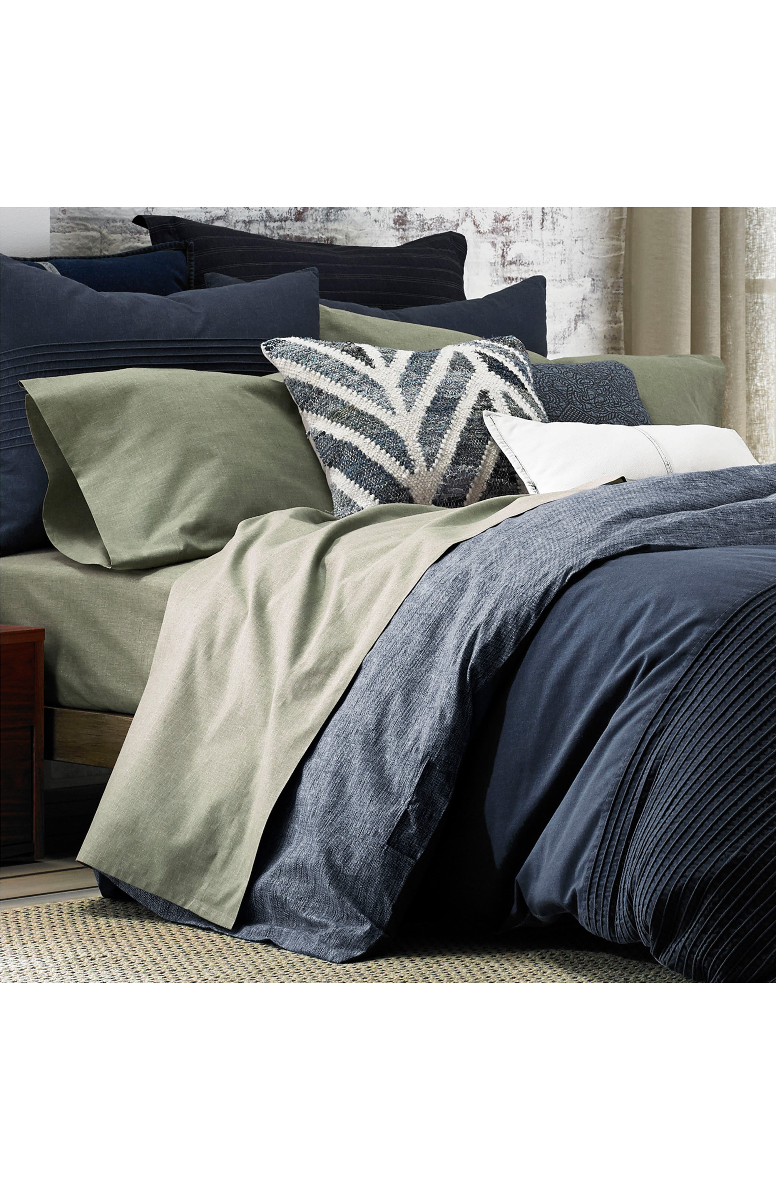 Chambray Pillowcases,                             Alternate thumbnail 2, color,                             Olive Green