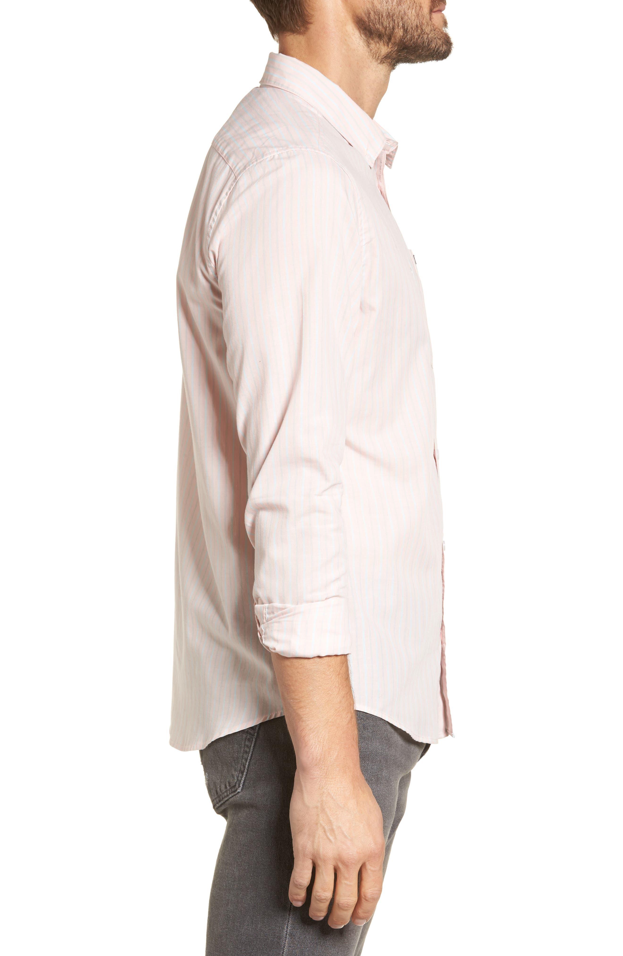 Alternate Image 3  - RVCA Everyday Stripe Shirt