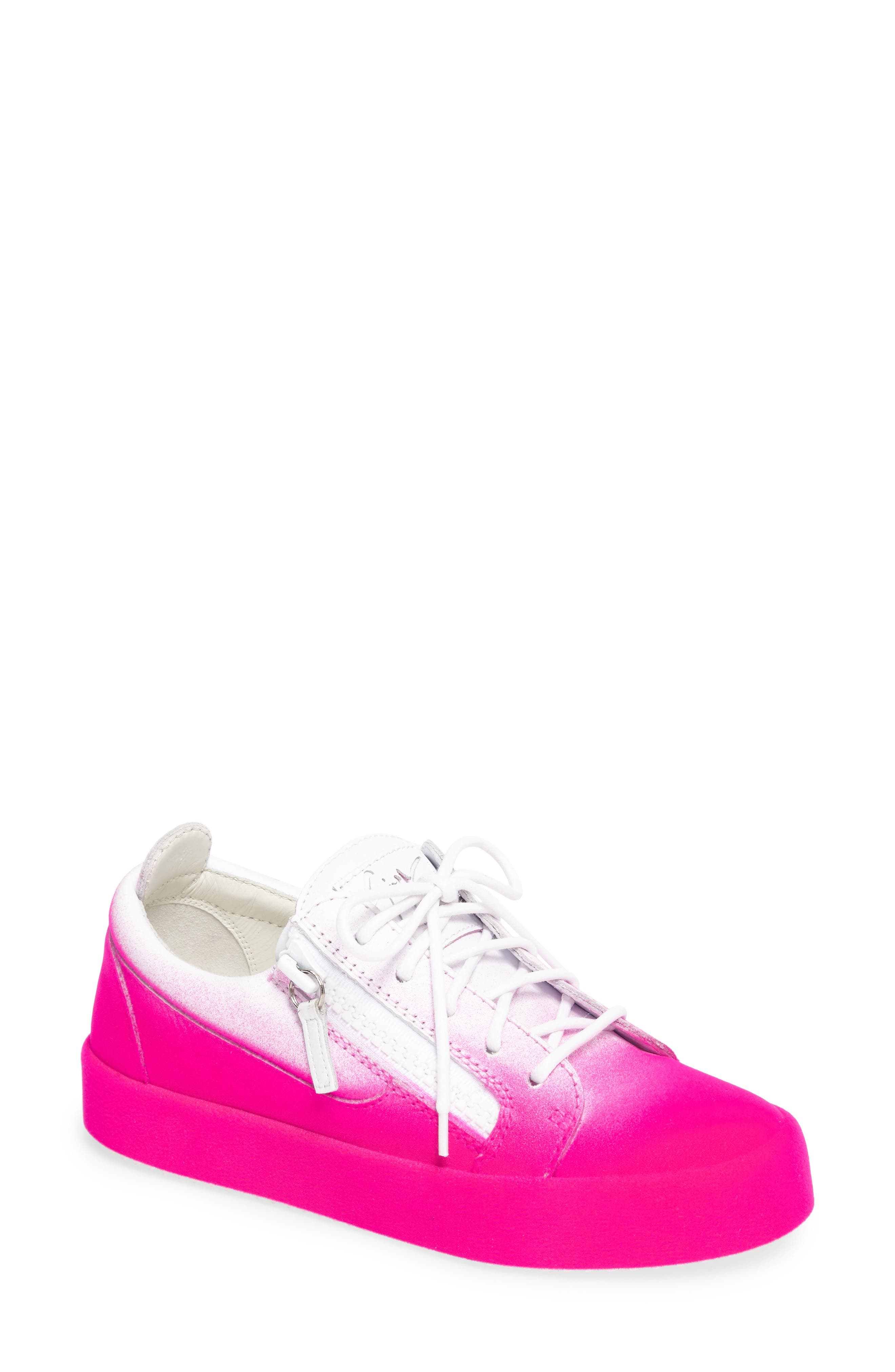 May London Low Top Sneaker,                         Main,                         color, White/ Pink