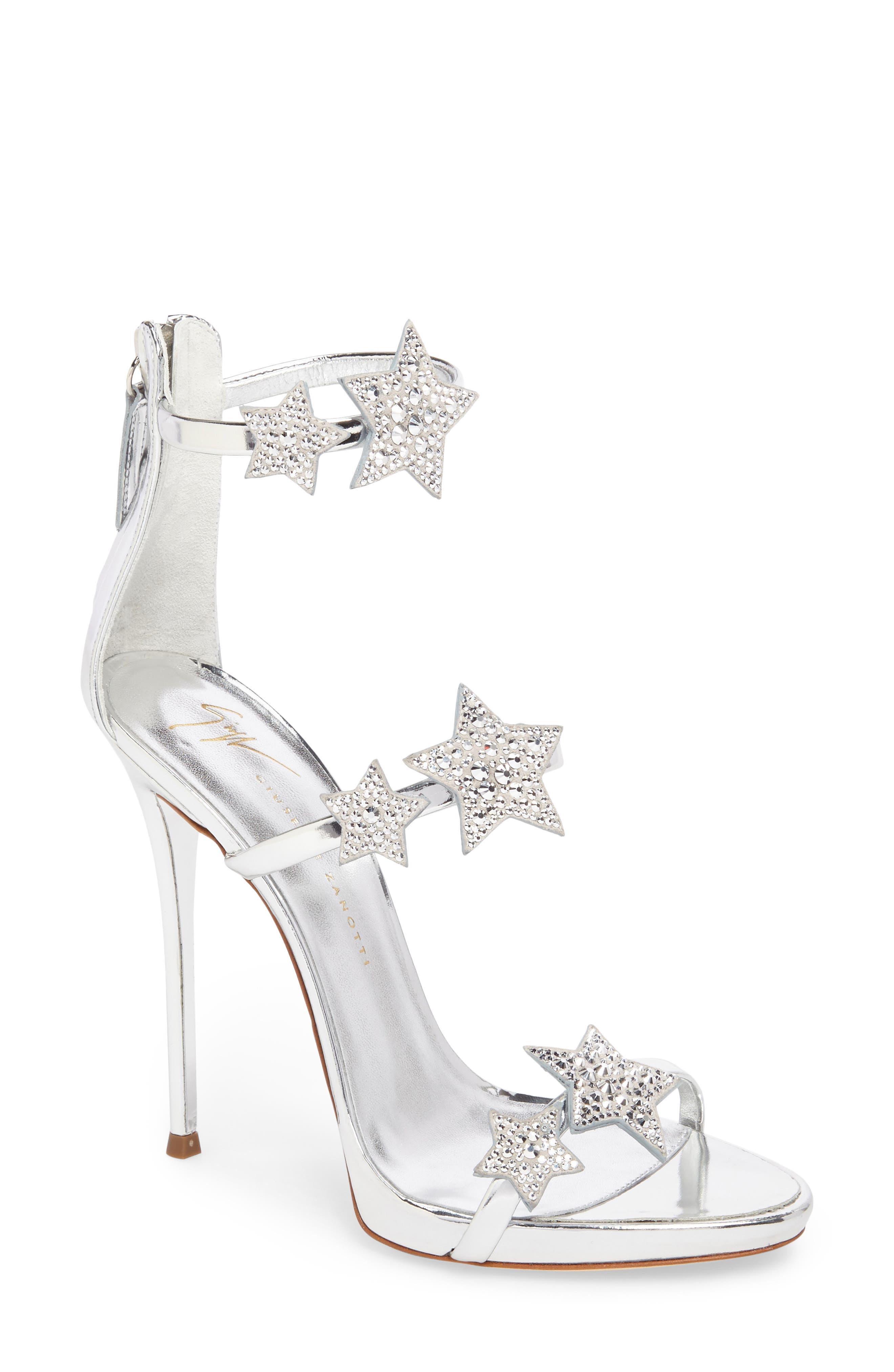 Alternate Image 1 Selected - Giuseppe Zanotti Coline Embellished Star Strap Sandal (Women)