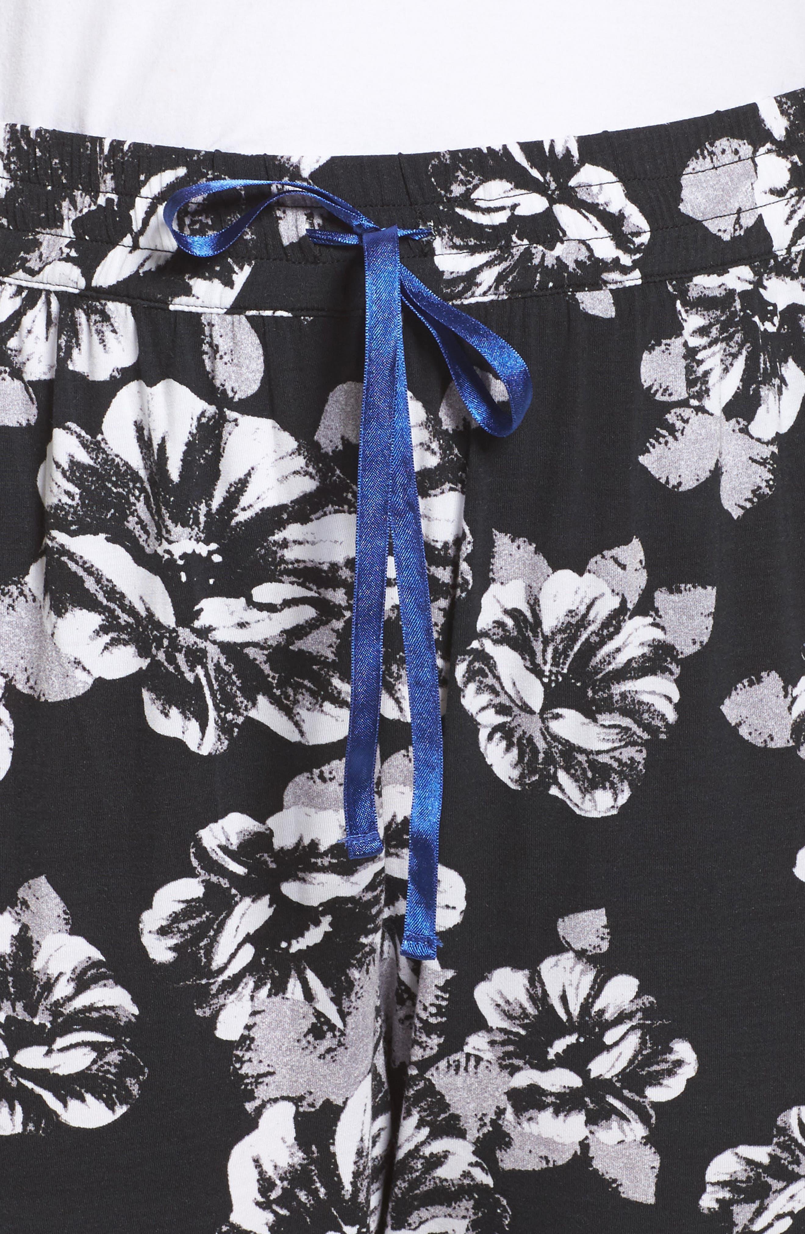 Pajama Pants,                             Alternate thumbnail 4, color,                             Black