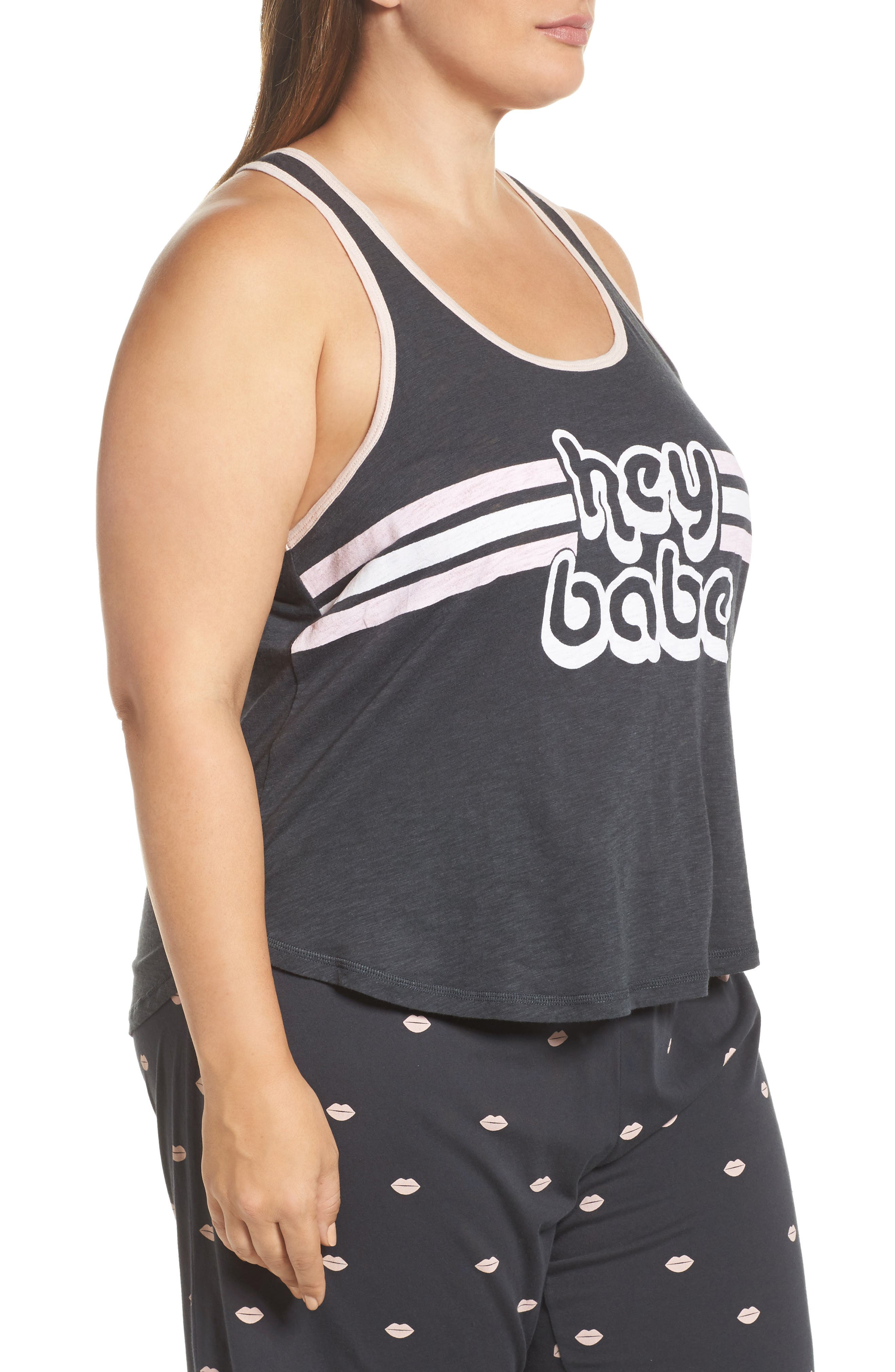 Alternate Image 3  - PJ Salvage Hey Babe Jersey Tank (Plus Size)