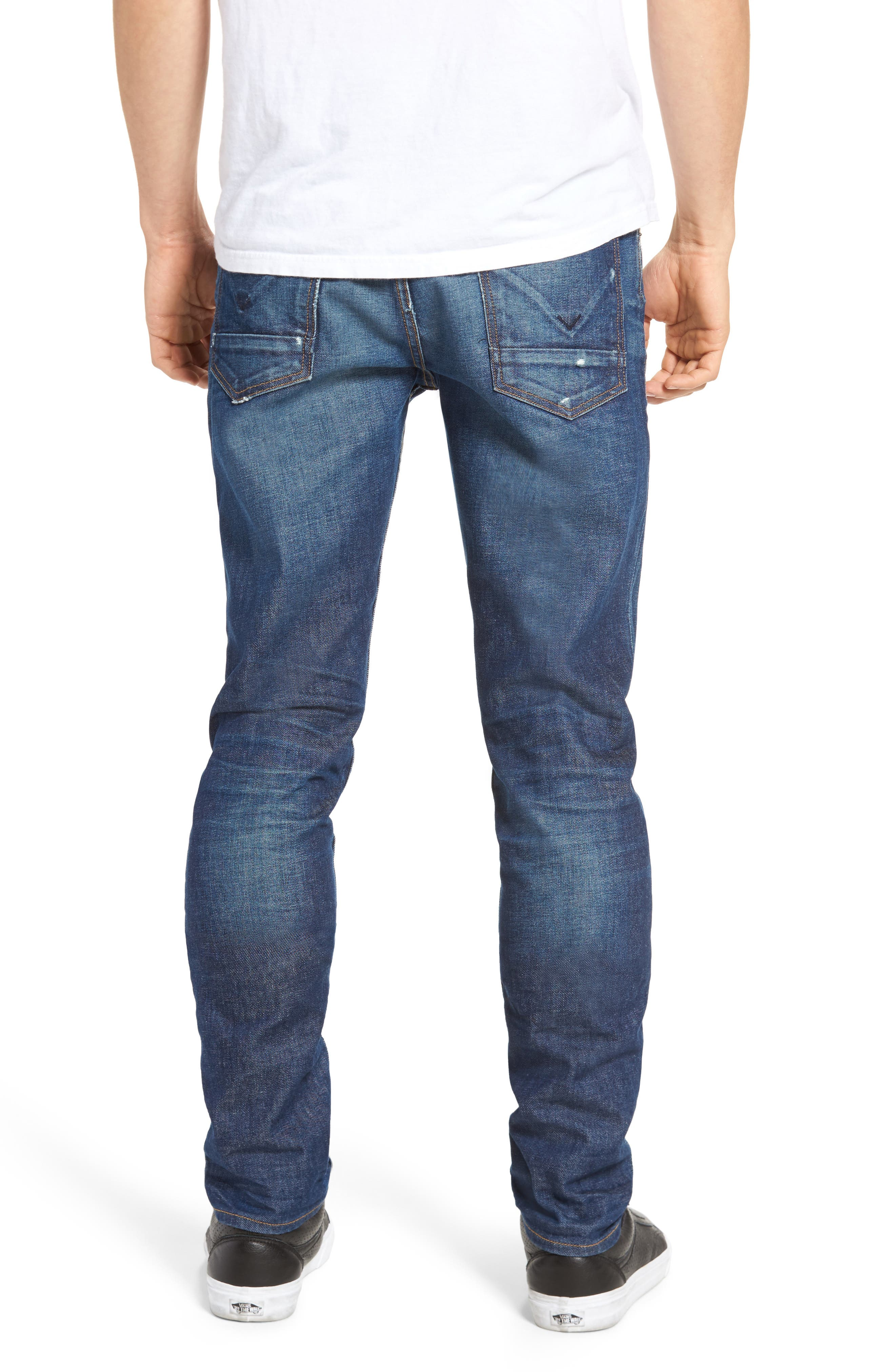 Alternate Image 2  - Hudson Jeans Axl Skinny Fit Jeans (Falling Down)