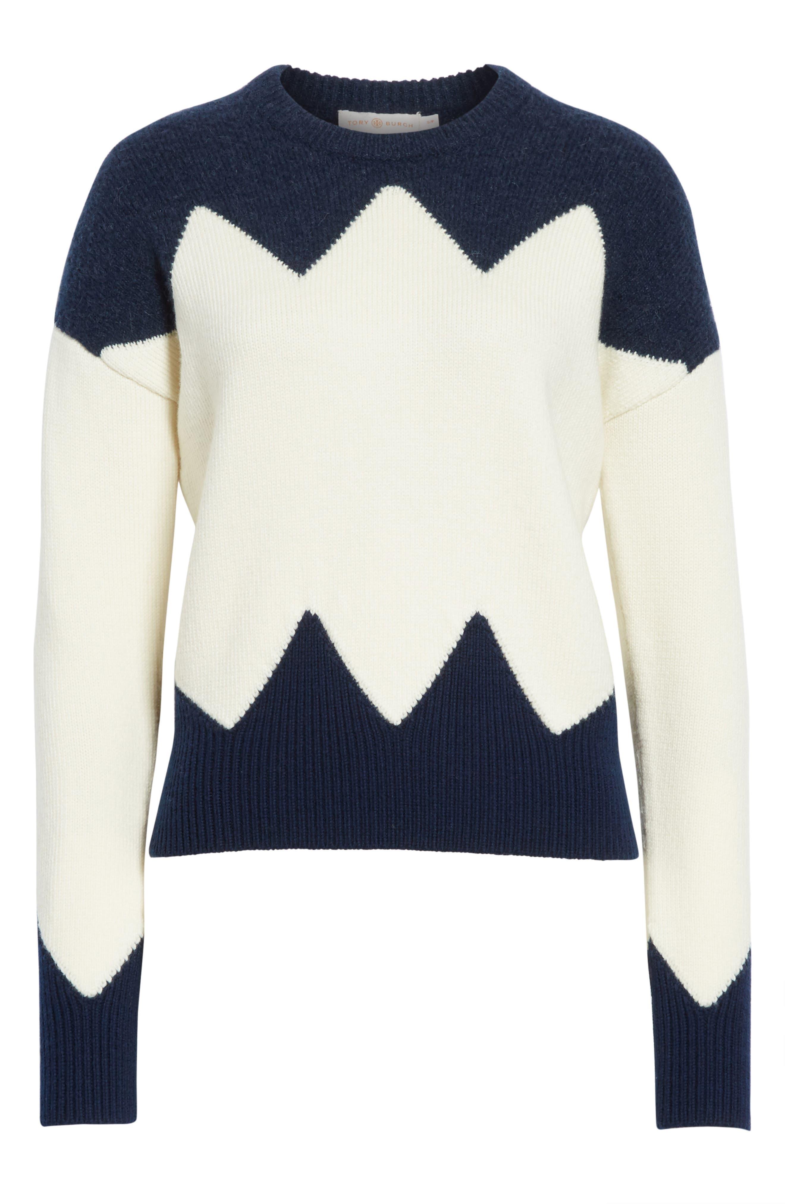 Alternate Image 6  - Tory Burch Hannah Wool Blend Sweater