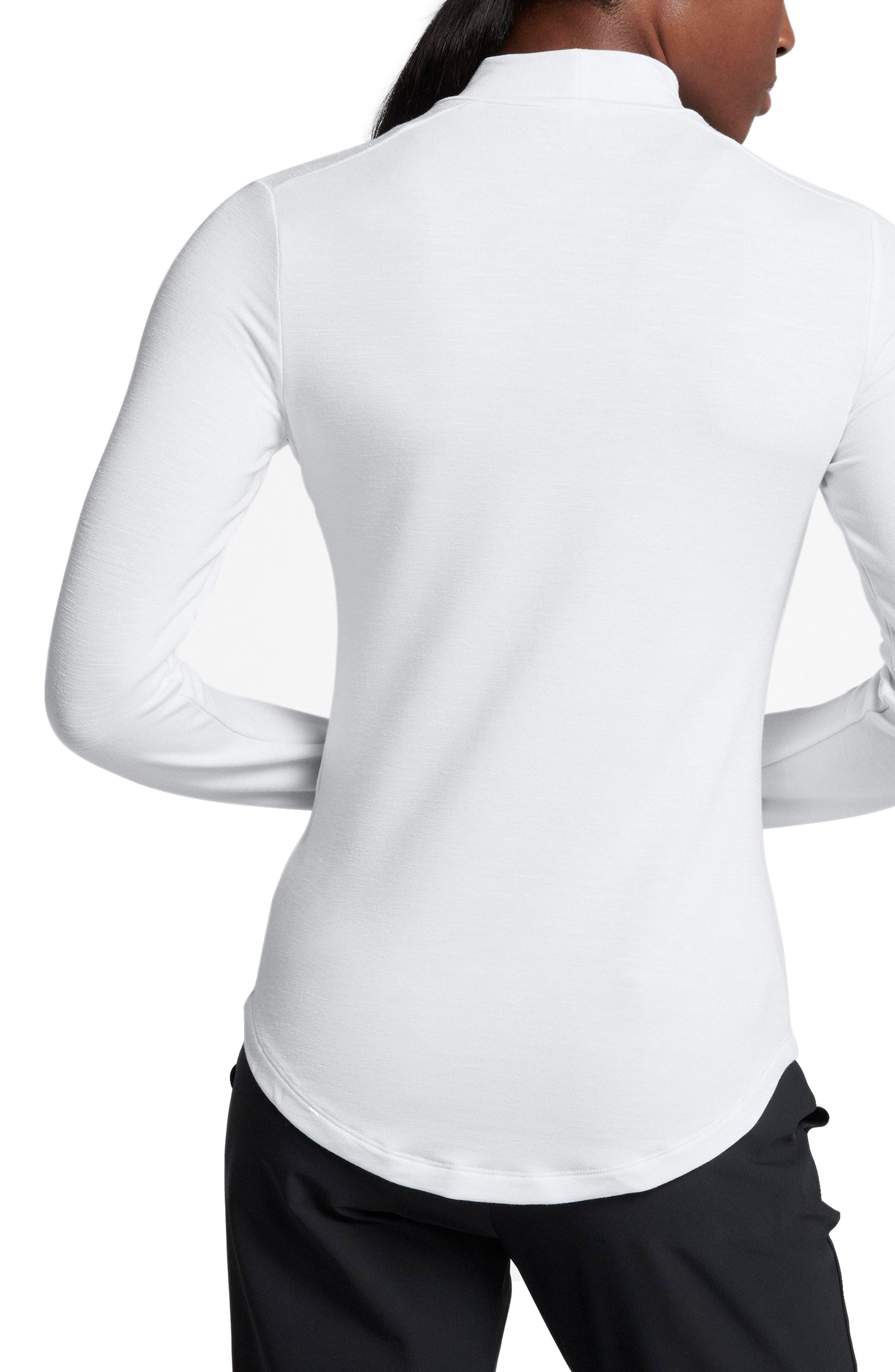 Dry Long Sleeve Golf Top,                             Alternate thumbnail 2, color,                             White