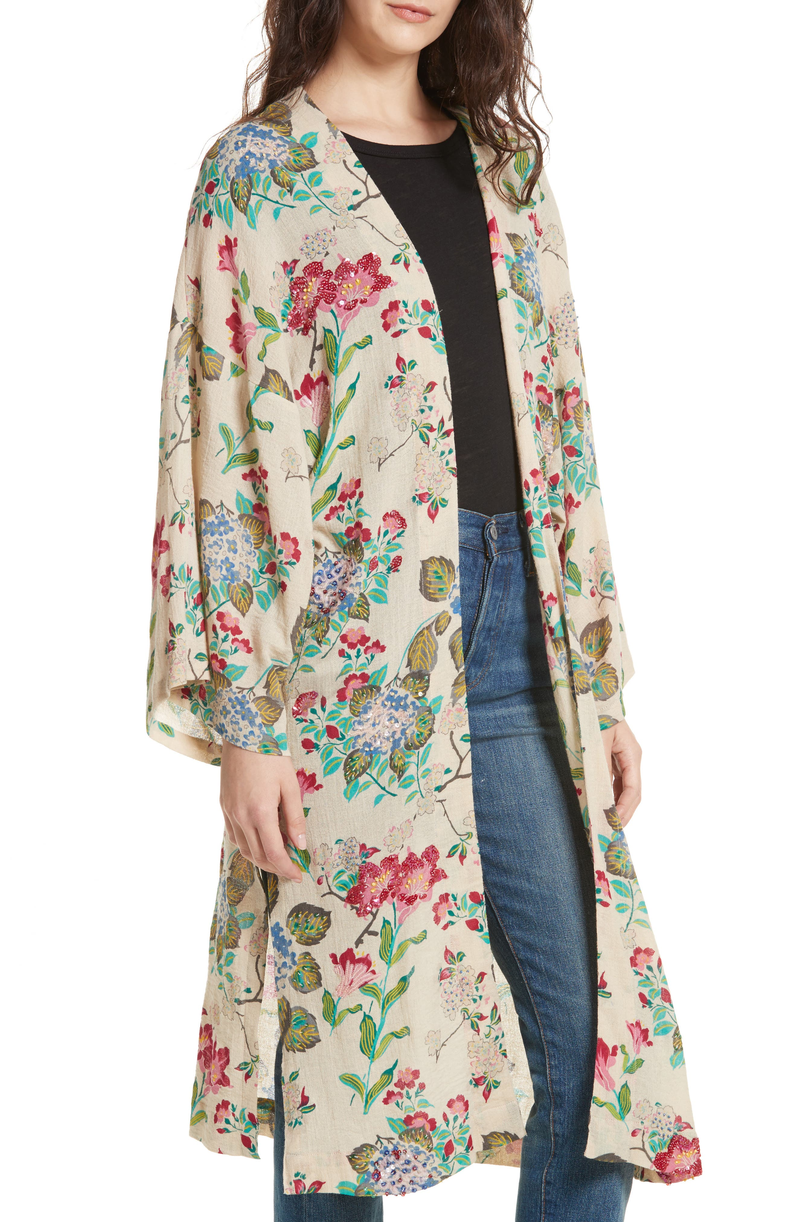 Latimer Kimono,                             Alternate thumbnail 4, color,                             Neutral Combo