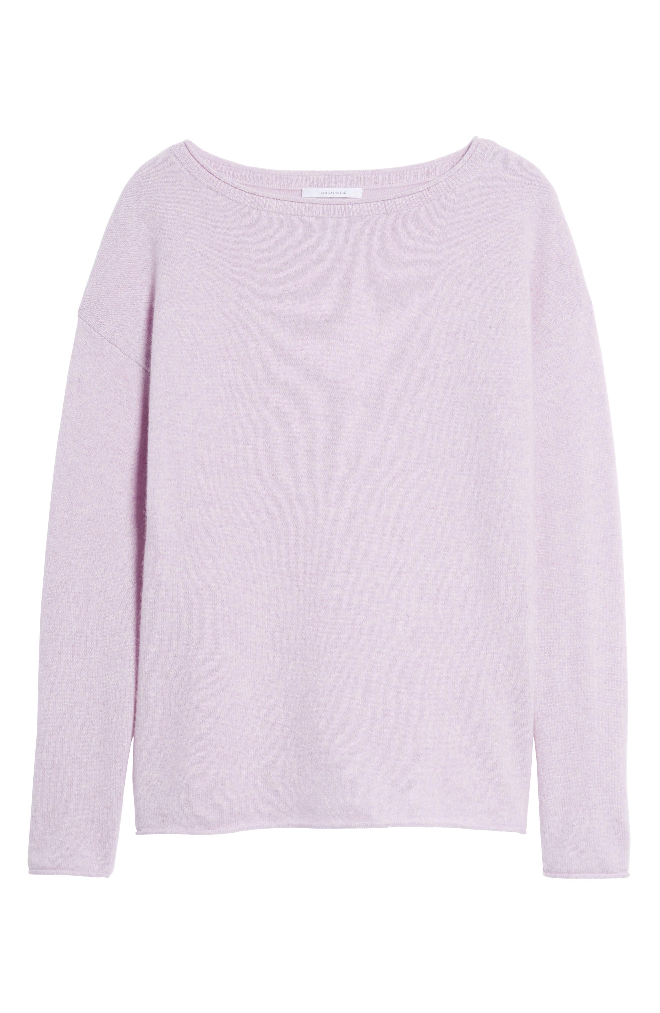 Alternate Image 6  - Nordstrom Signature Boiled Cashmere Sweater