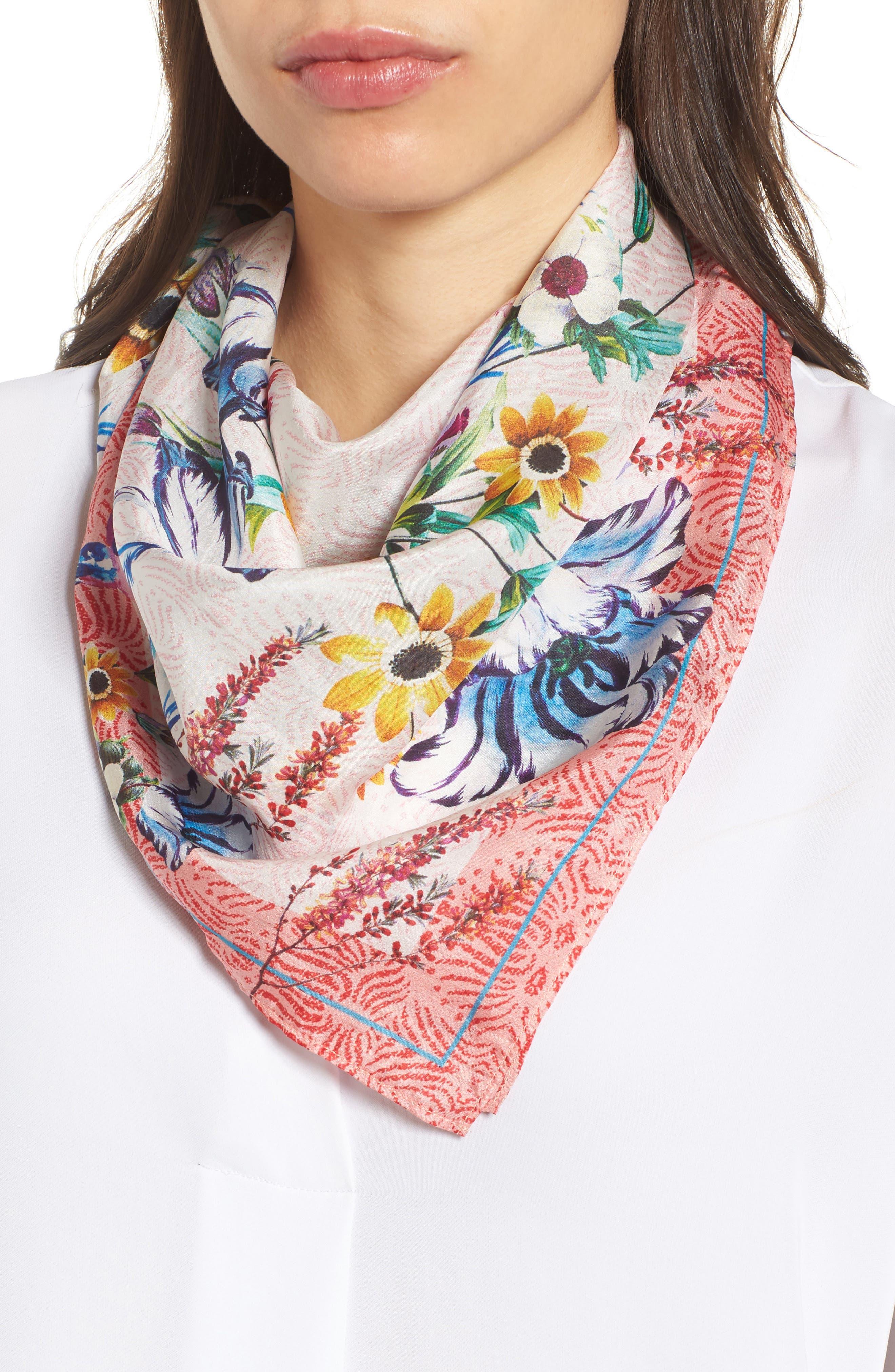 Nordstrom Print Silk Scarf