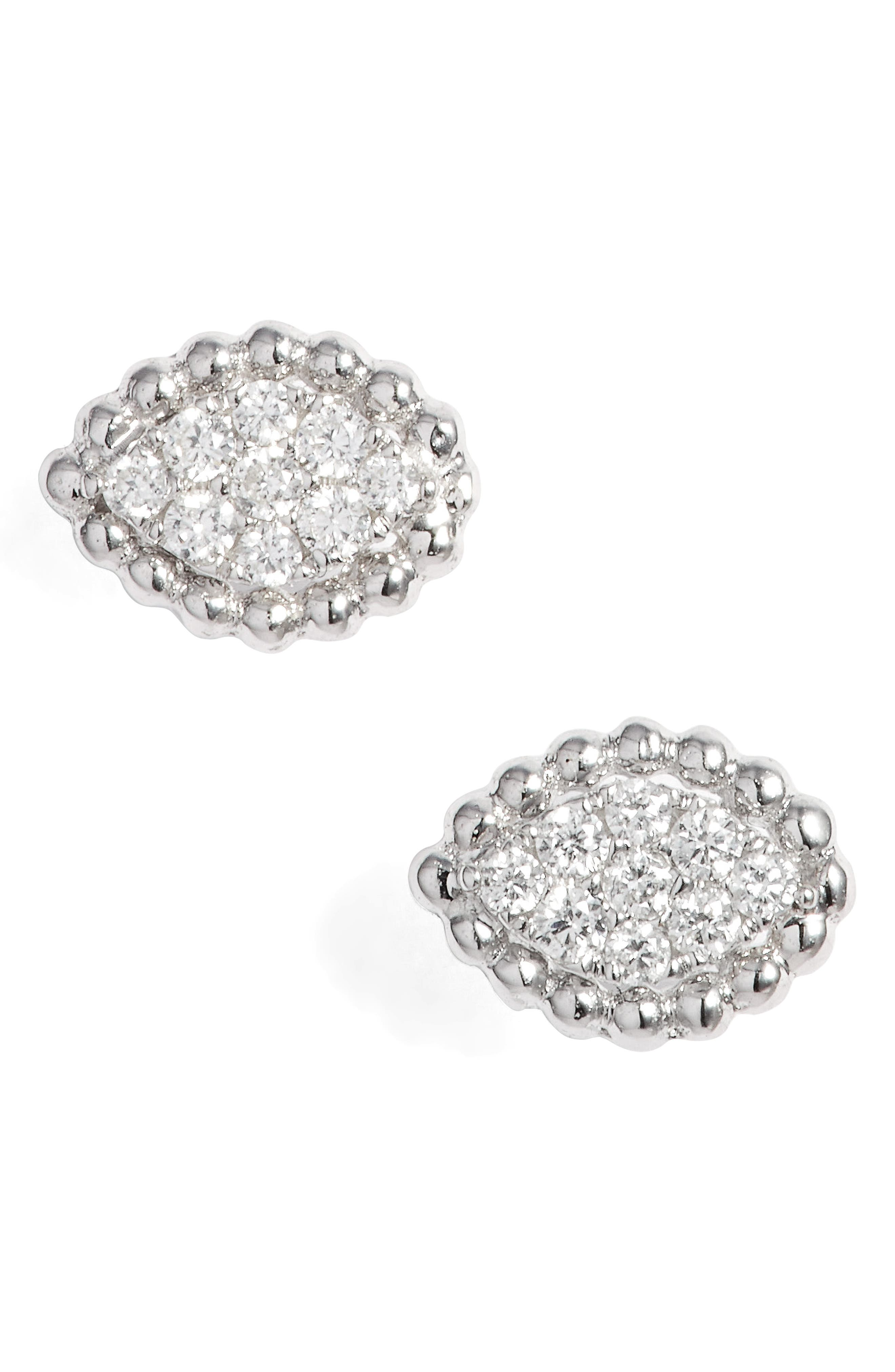 Mika Diamond Marquise Stud Earrings,                         Main,                         color, White Gold