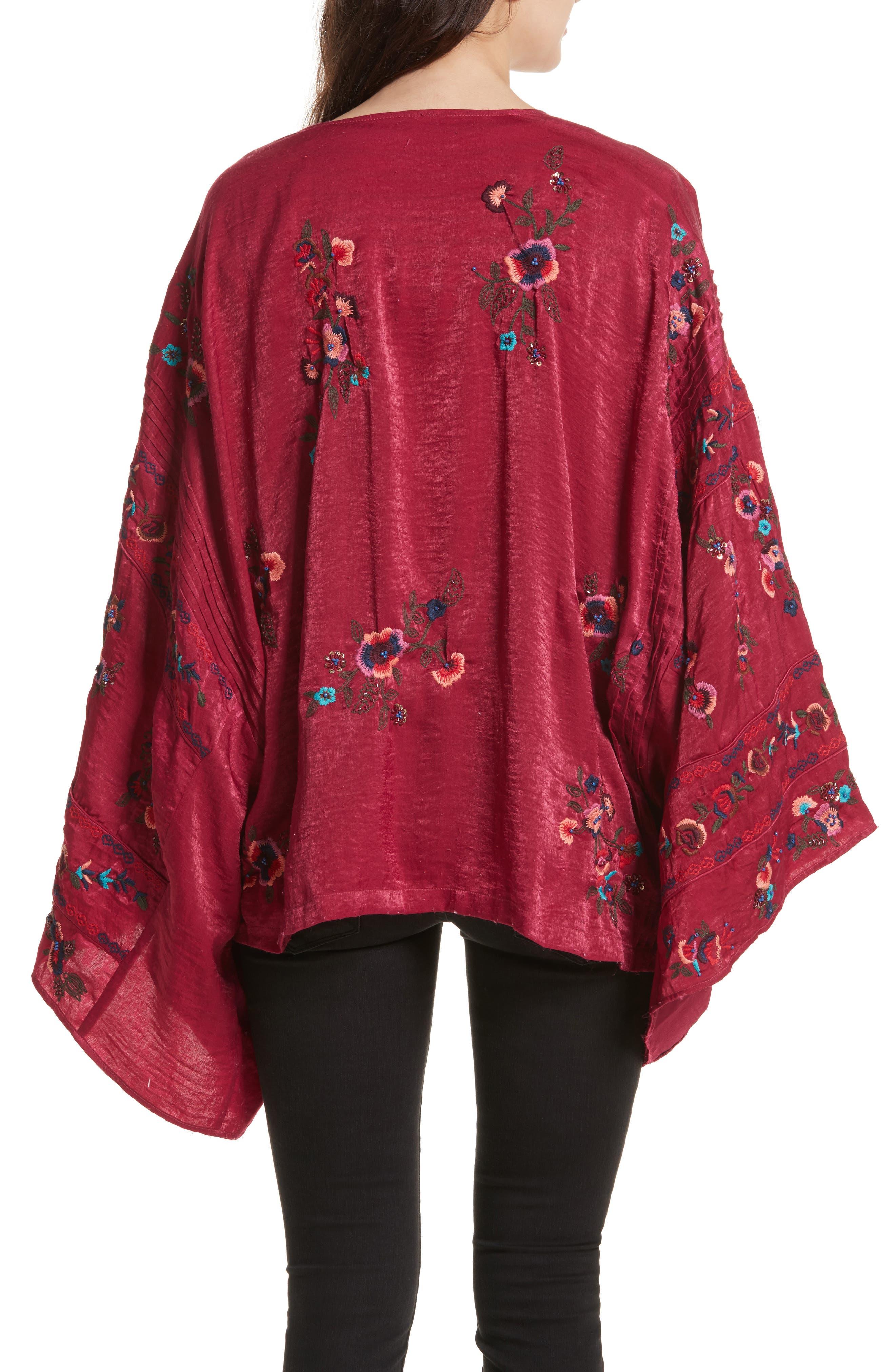 Ariel Kimono,                             Alternate thumbnail 2, color,                             Raspberry