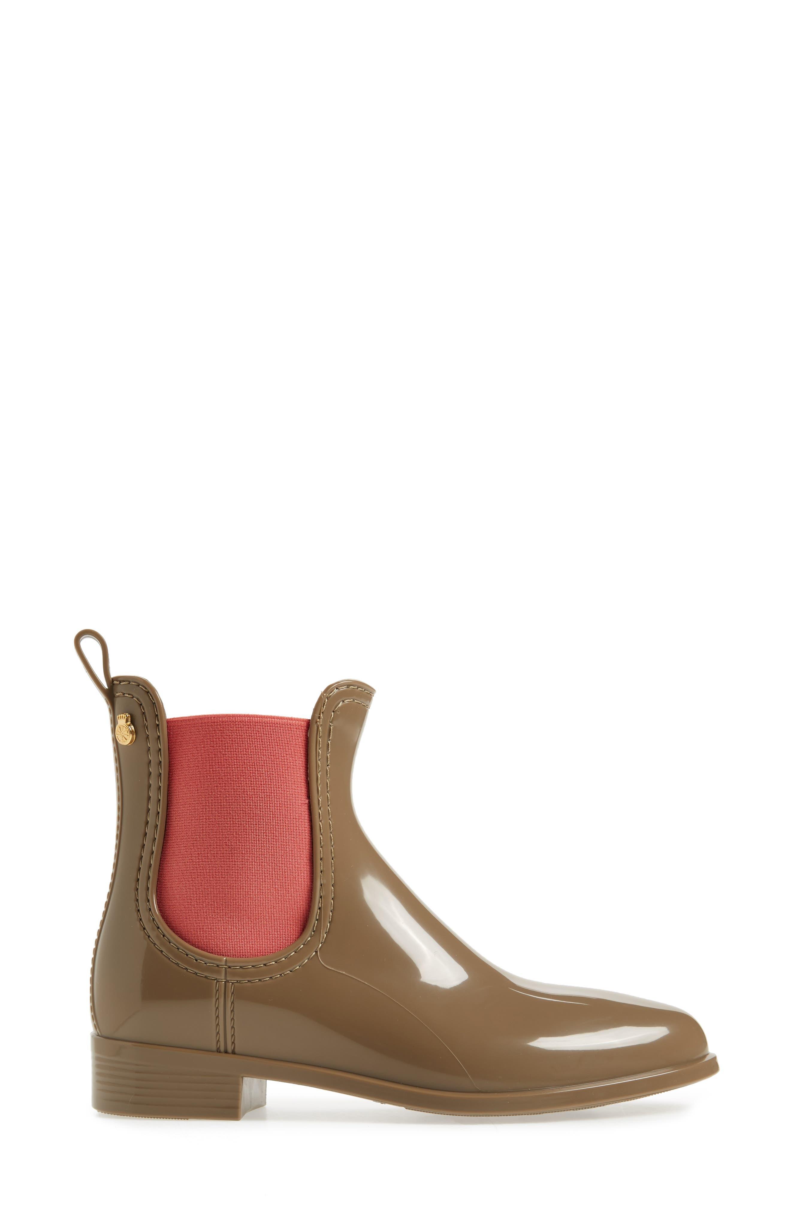 Pisa Waterproof Chelsea Boot,                             Alternate thumbnail 3, color,                             Taupe Gloss