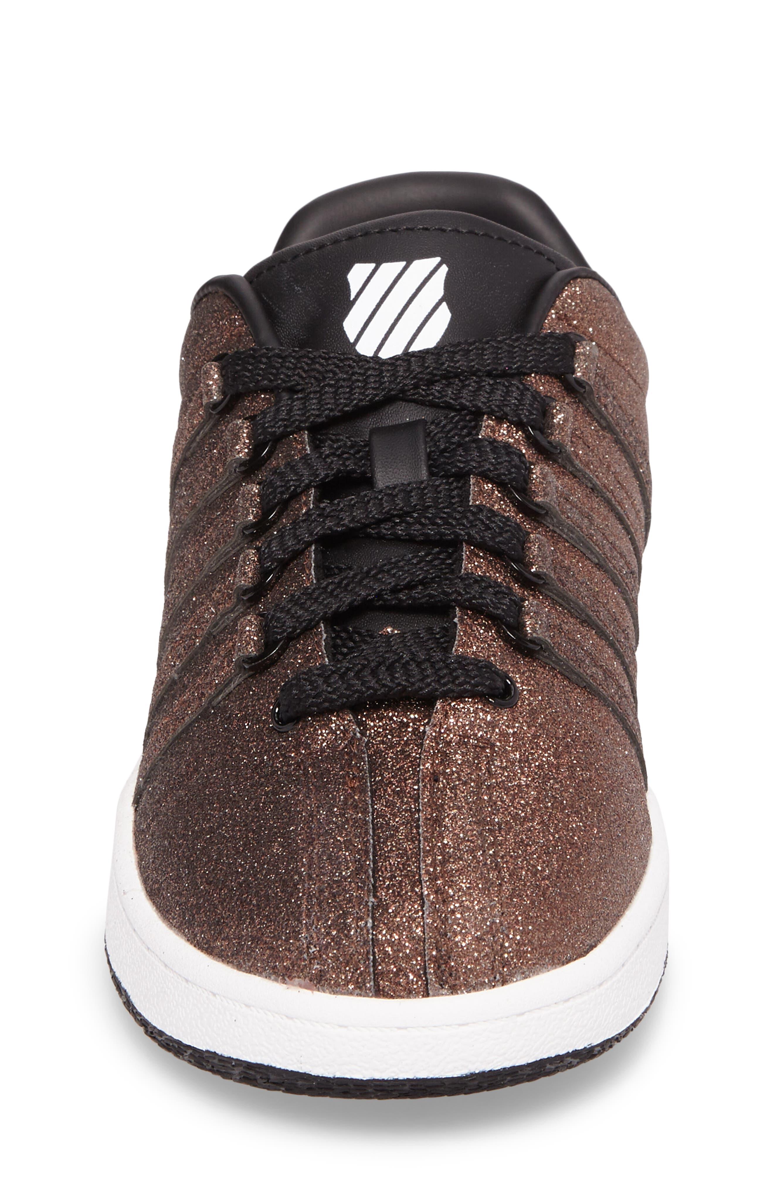 Alternate Image 4  - K-Swiss Classic VN Sparkle Low Top Sneaker (Baby, Walker, Toddler, Little Kid & Big Kid)