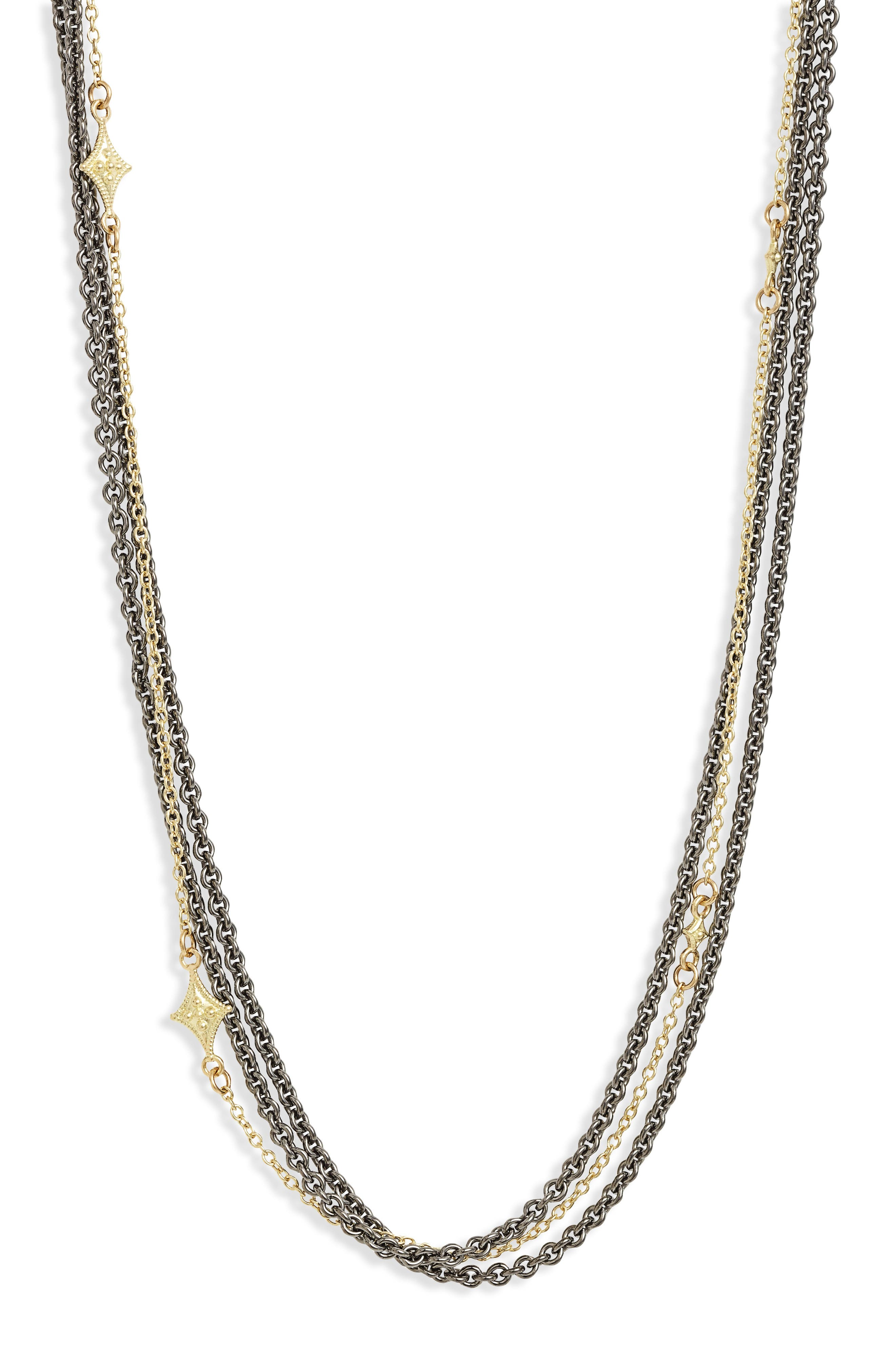 Old World Crivelli Collar Necklace,                             Alternate thumbnail 2, color,                             Gold
