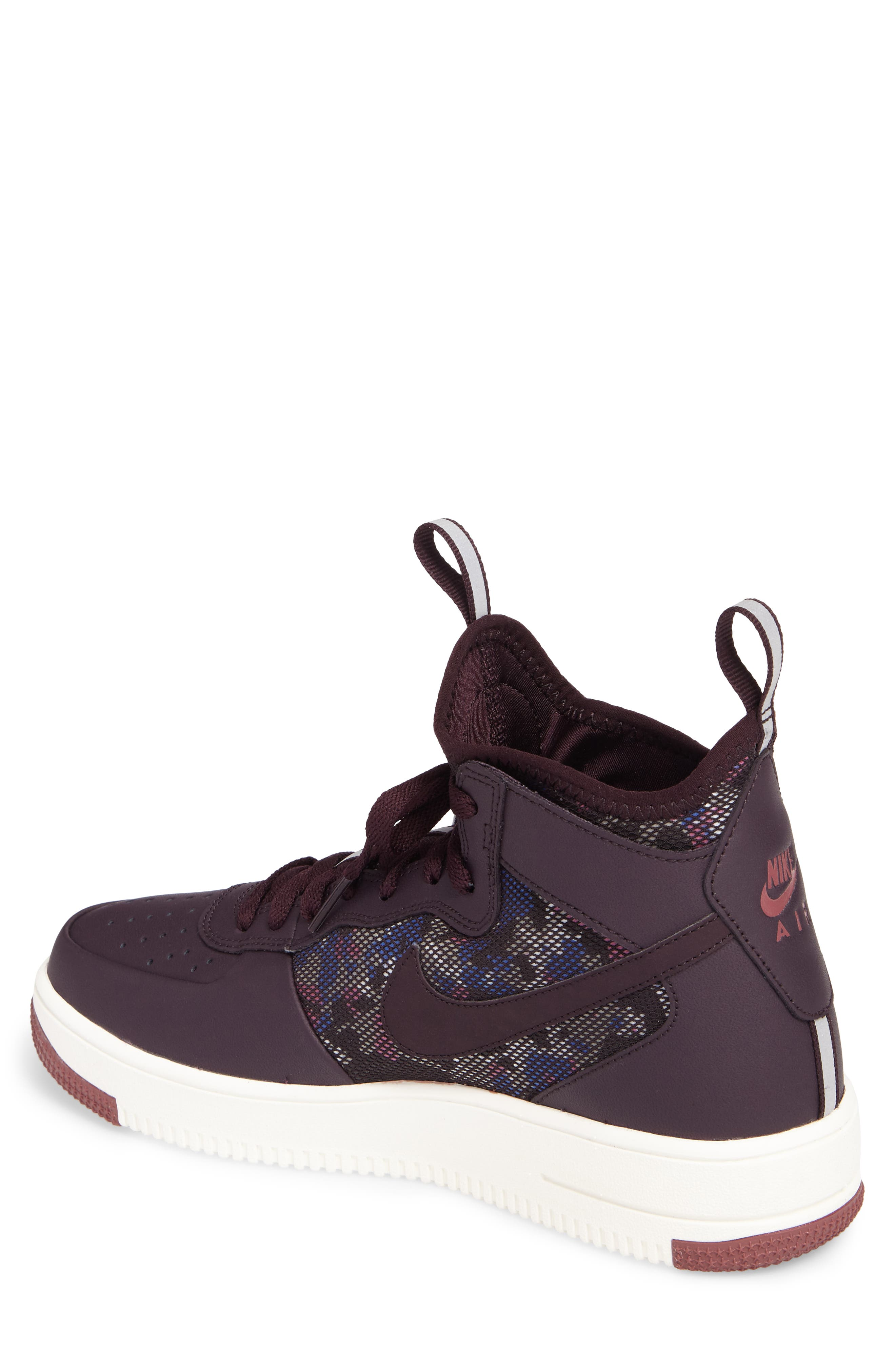 Air Force 1 Ultraforce Mid Sneaker,                             Alternate thumbnail 2, color,                             Port Wine/ Summit White